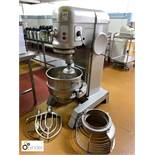 Hobart floor standing Planetary Food Mixer, 415volts, whisk, 2 paddles and bowl (located in Main