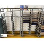 2 tubular framed 24-tray mobile Racks (located in Main Kitchen, Basement) **** please note this