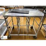 Stainless steel top tubular framed Tray Cart, 980mm x 600mm (located in Main Kitchen, Basement) ****