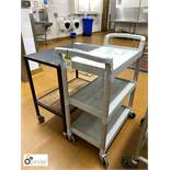 2 multi-shelf Serving Trolleys (located in Main Kitchen, Basement) **** please note this lot needs