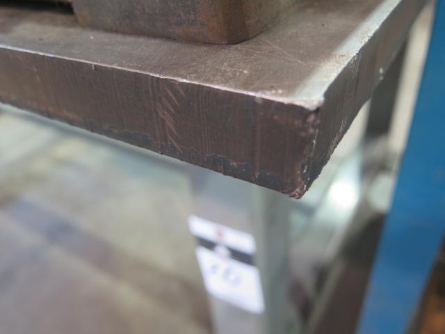Lot 20 - Rolling Steel Table