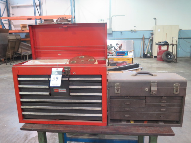 Lot 39 - Craftsman and Kennedy Tool Boxes w/ CArt