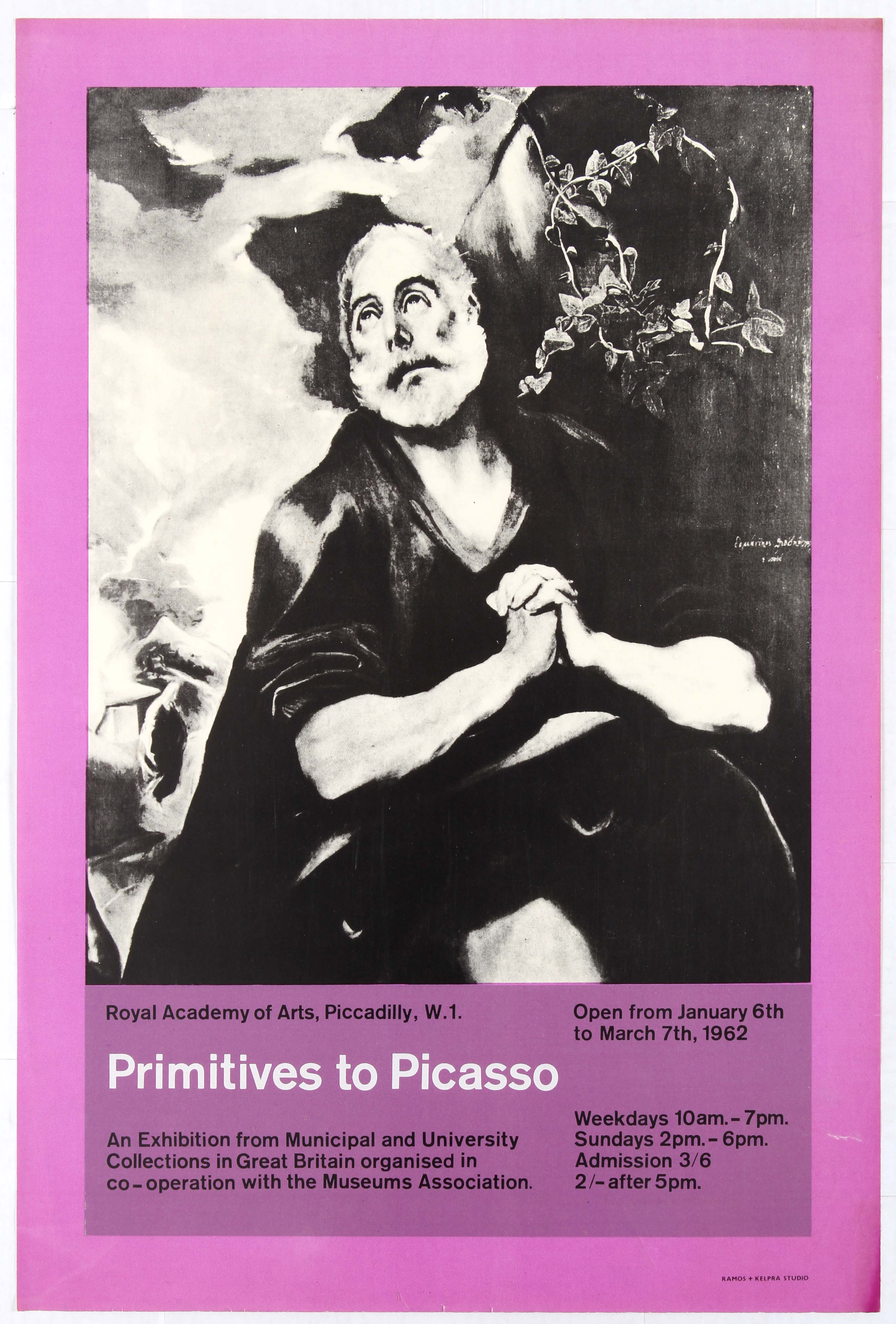 Advertising Poster Royal Academy of Arts Primitives to Picasso