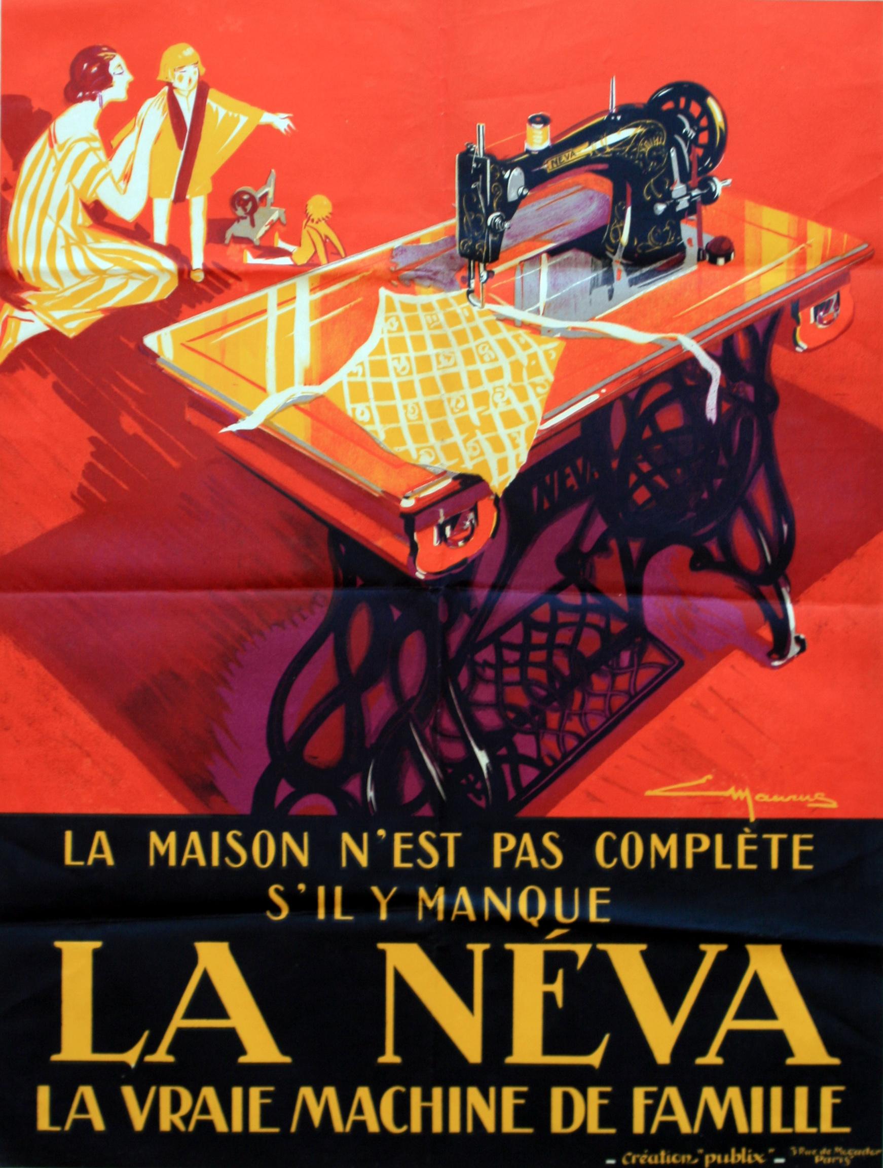 Lot 1201 - Advertising Poster La Neva Art Deco