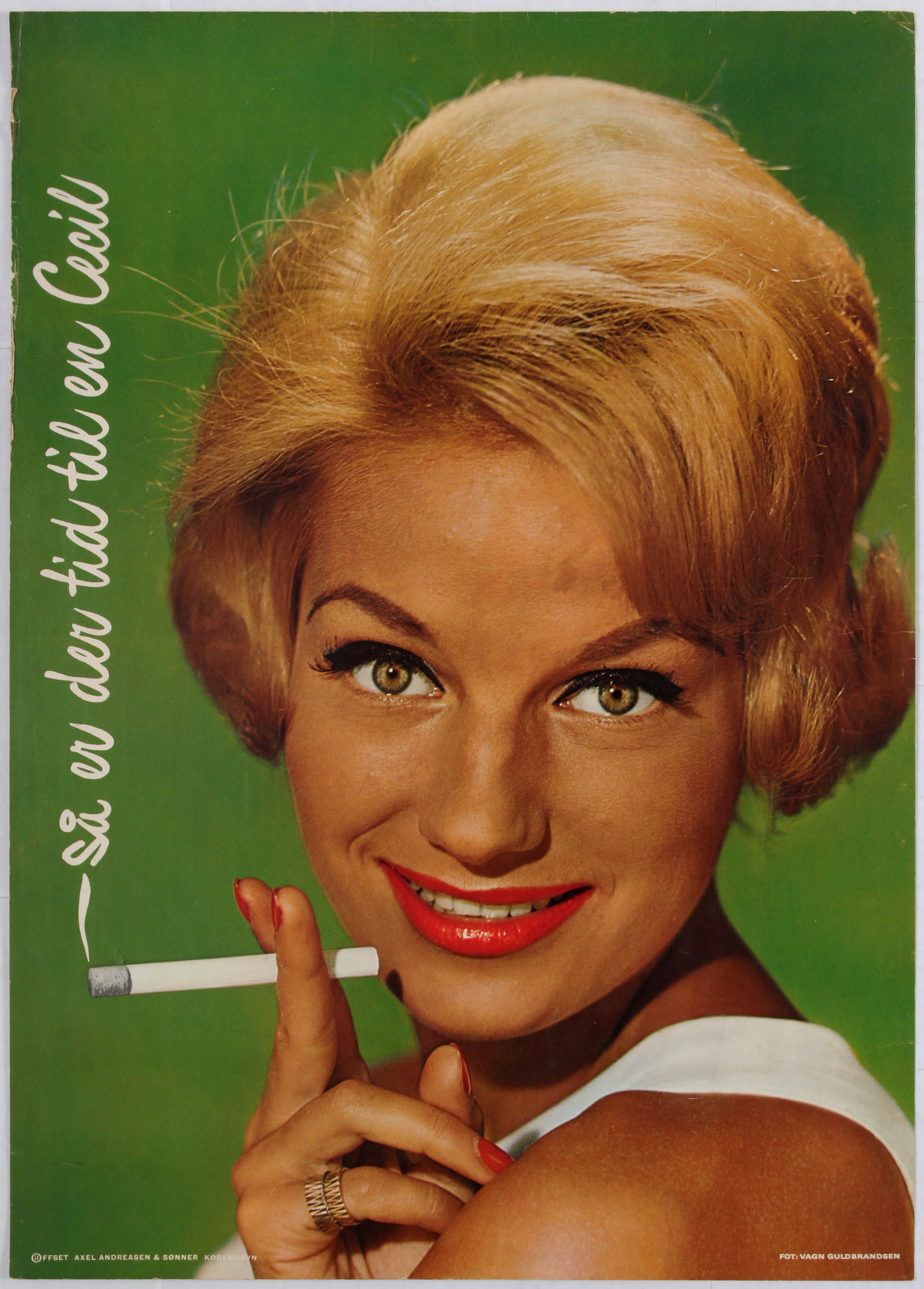 Lot 1601 - Advertising Poster Danish Cigarette Advertising
