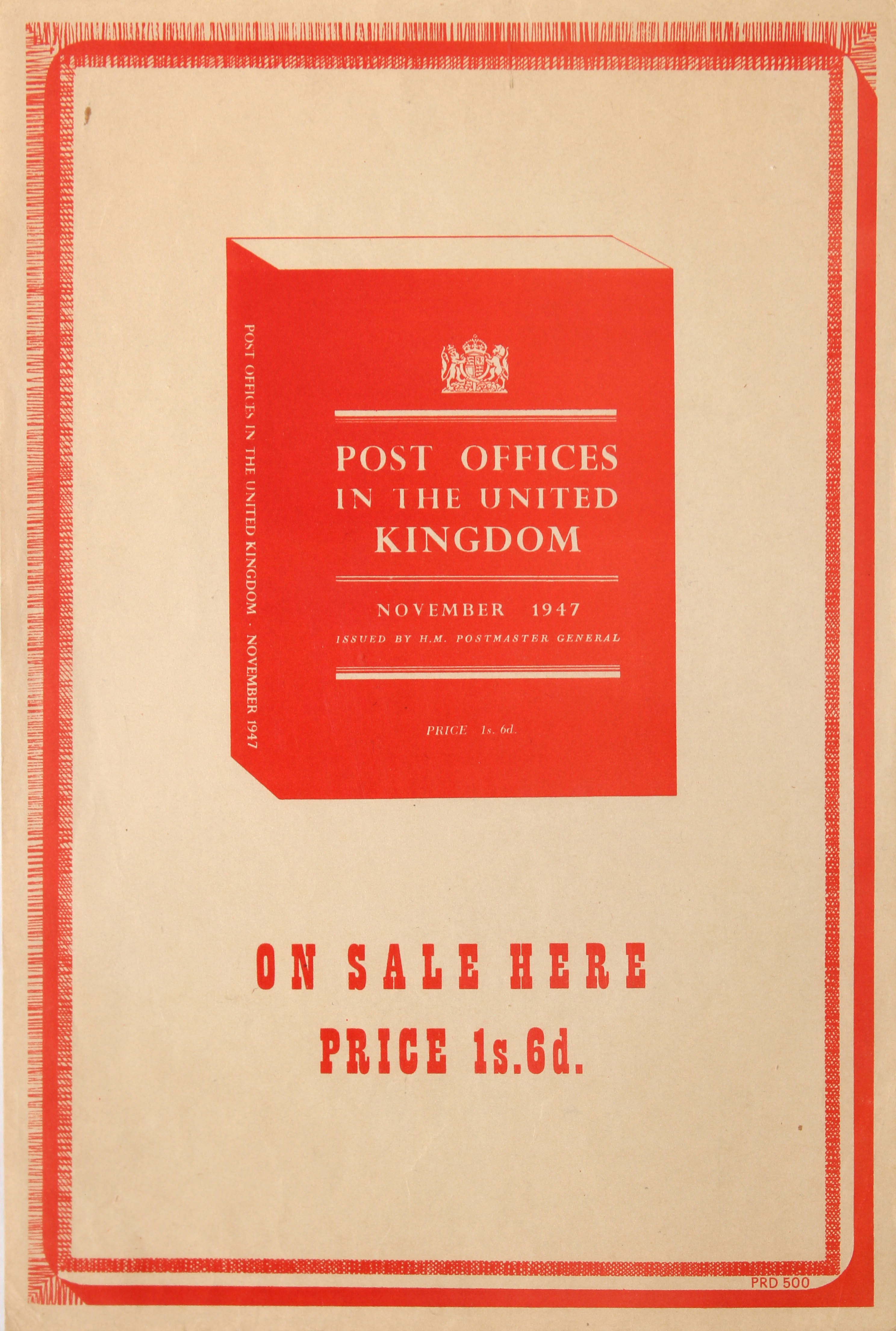 Lot 1402 - Post Offices in the United Kingdom November 1947