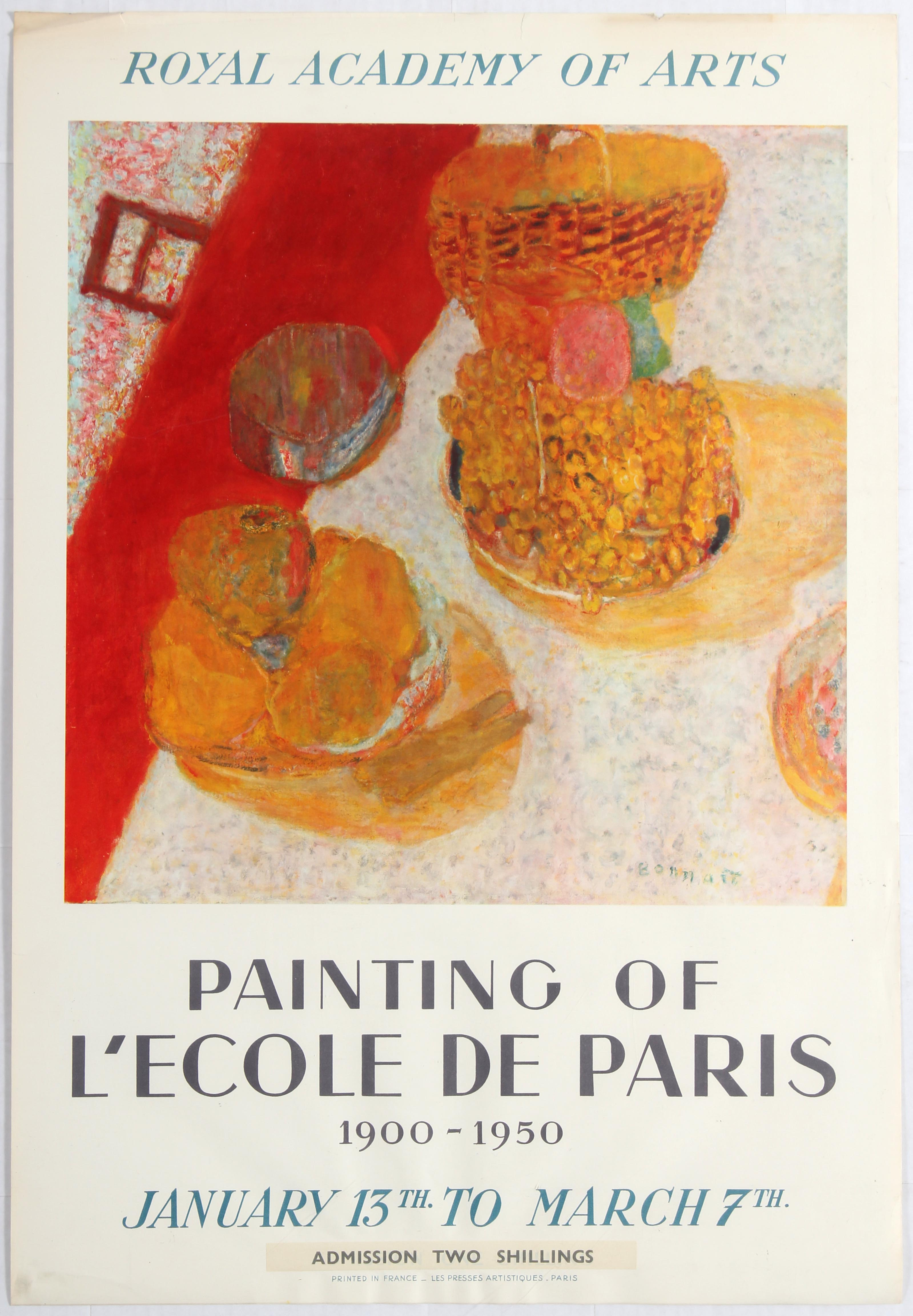 Lot 1505 - Advertising Poster Royal Academy of Arts Painting of L'Ecole de Paris 1900-1950