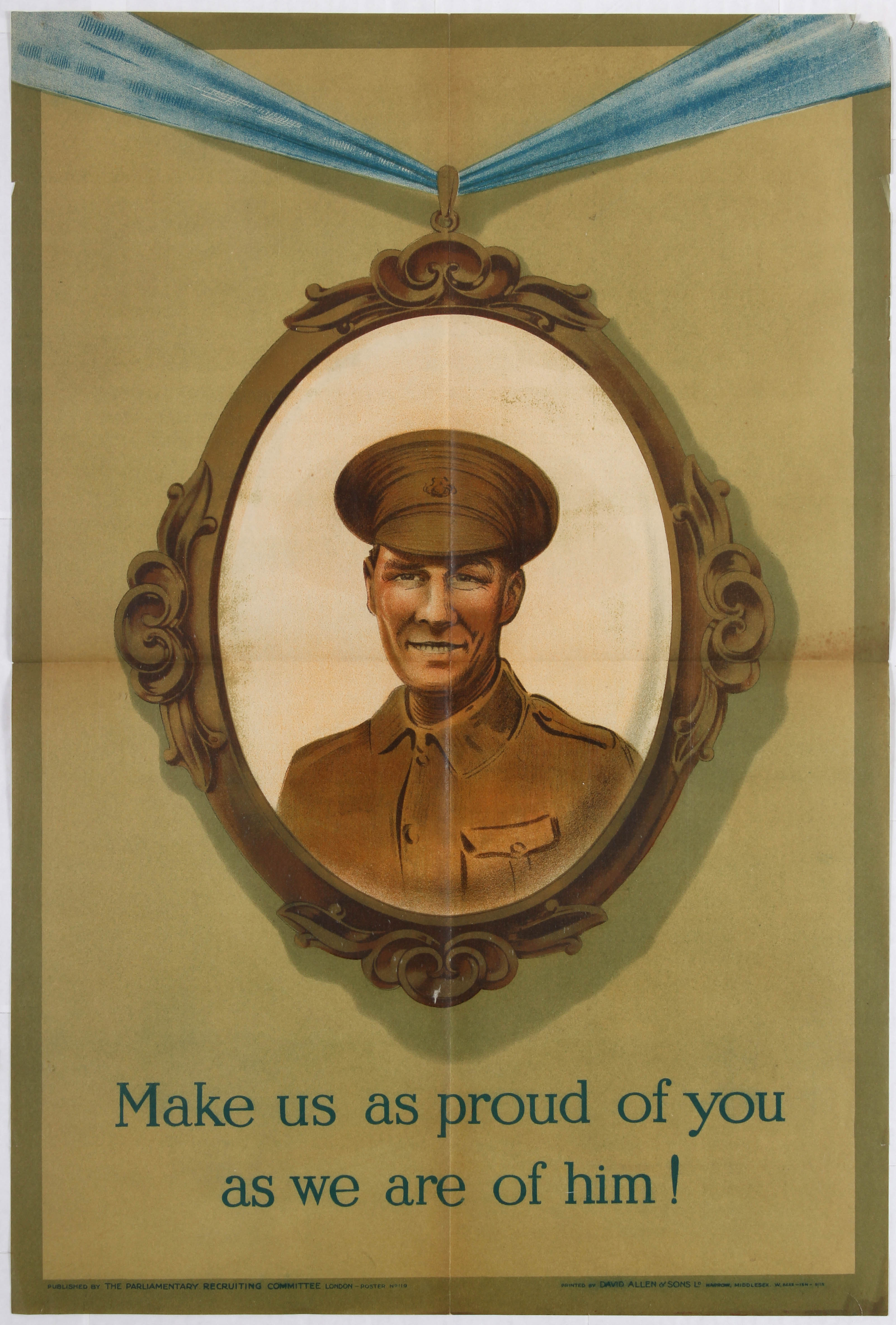 Lot 4109 - War Propaganda WWI poster Make us proud of you as we are proud of him!
