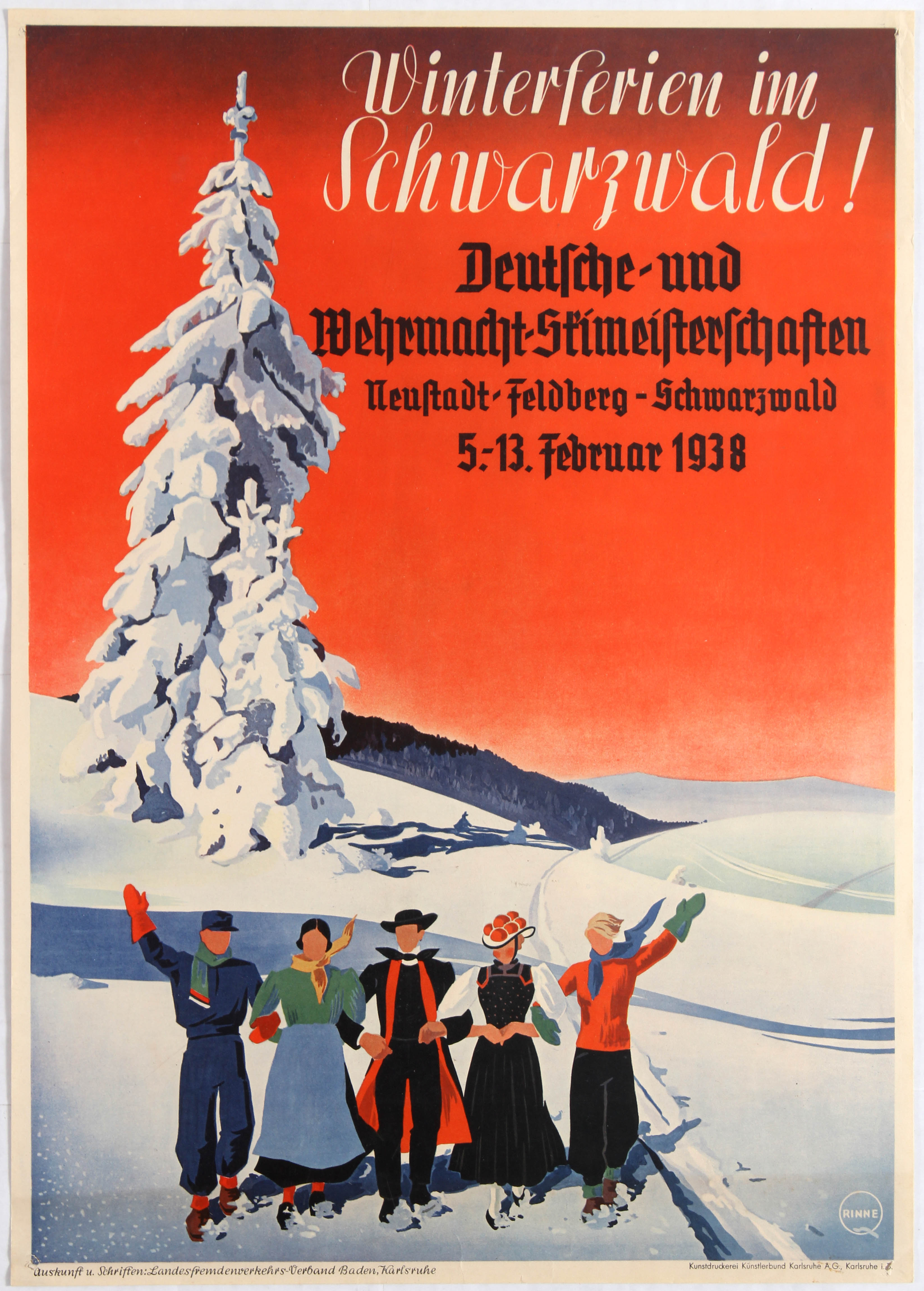 Lot 2300 - Travel Poster Winter in Black Forest III Reich