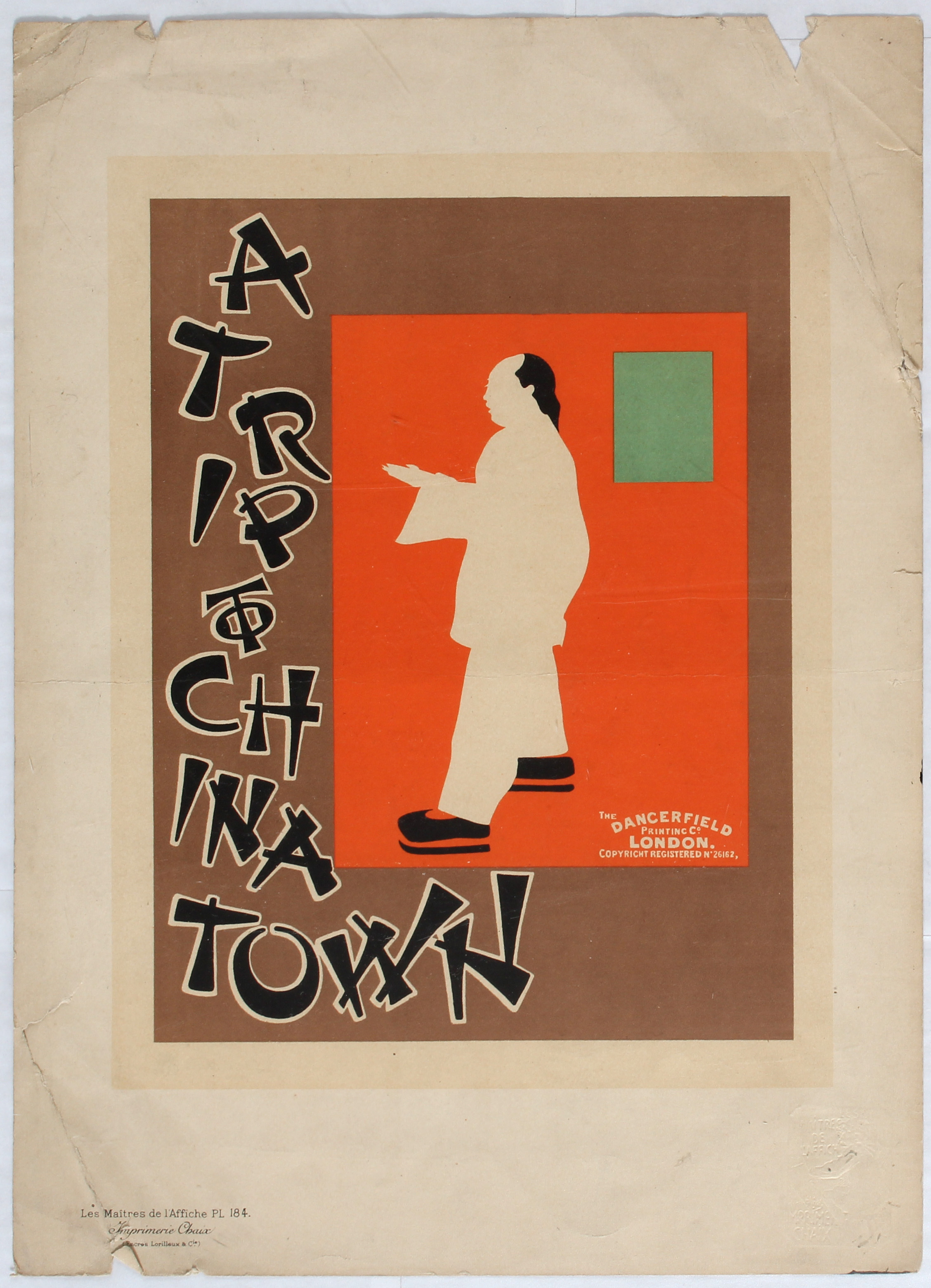 Lot 1000 - Advertising Poster Trip to Chinatown Maitres Affiche Beggarstaff