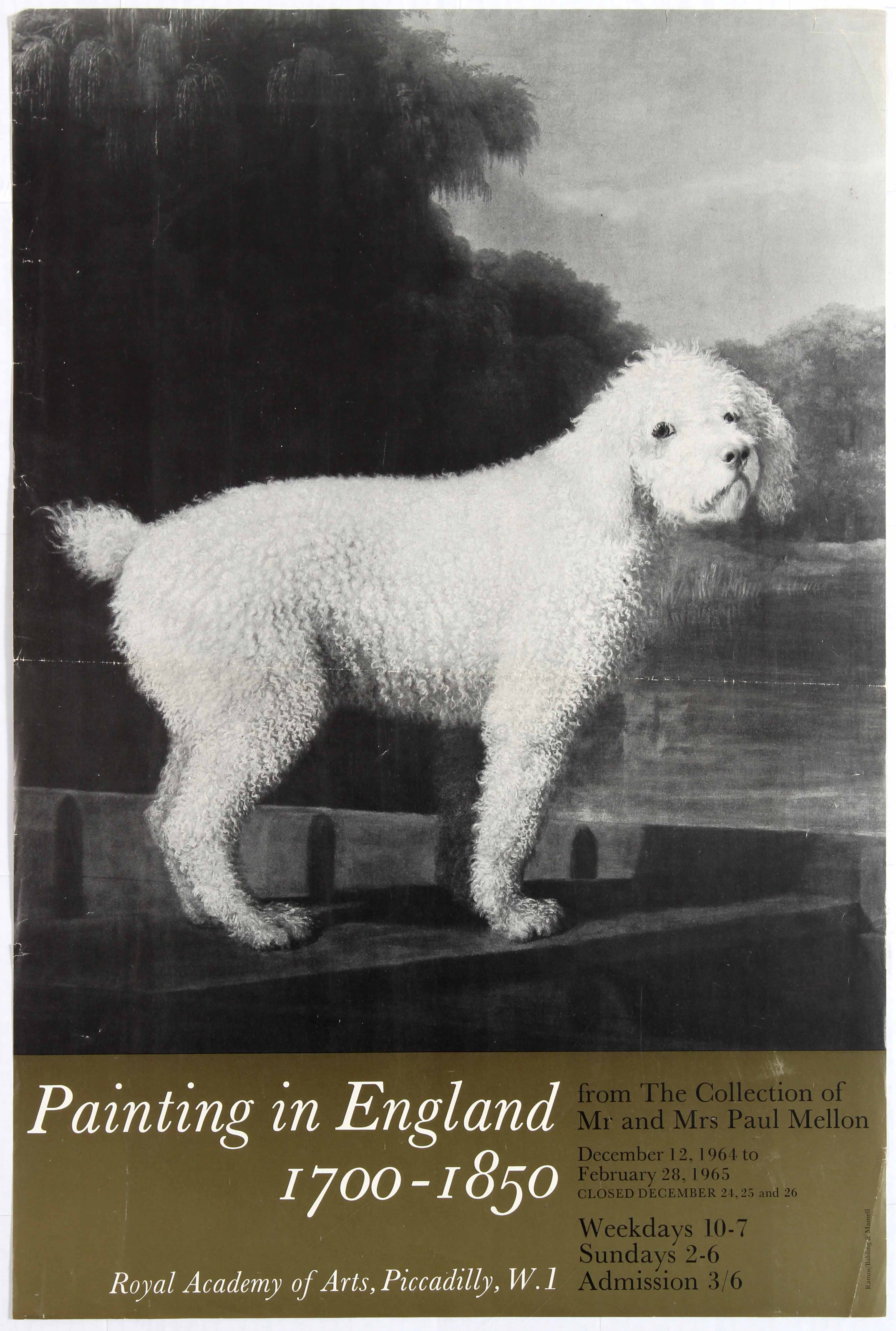 Lot 1621 - Advertising Poster Royal Academy of Arts Painting in England 1700-1850.