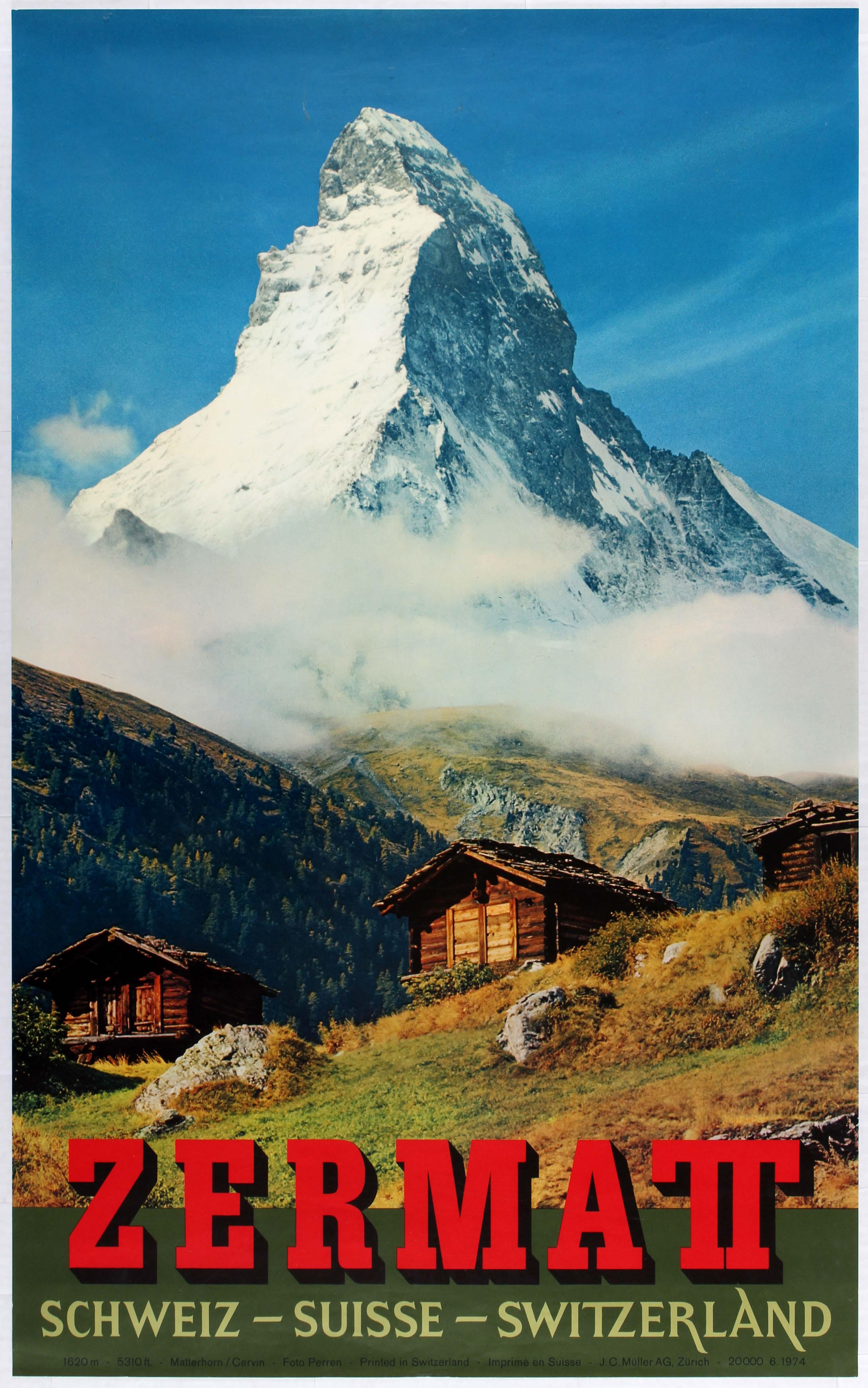 Lot 2701 - Travel Poster Zermatt Switzerland Suisse