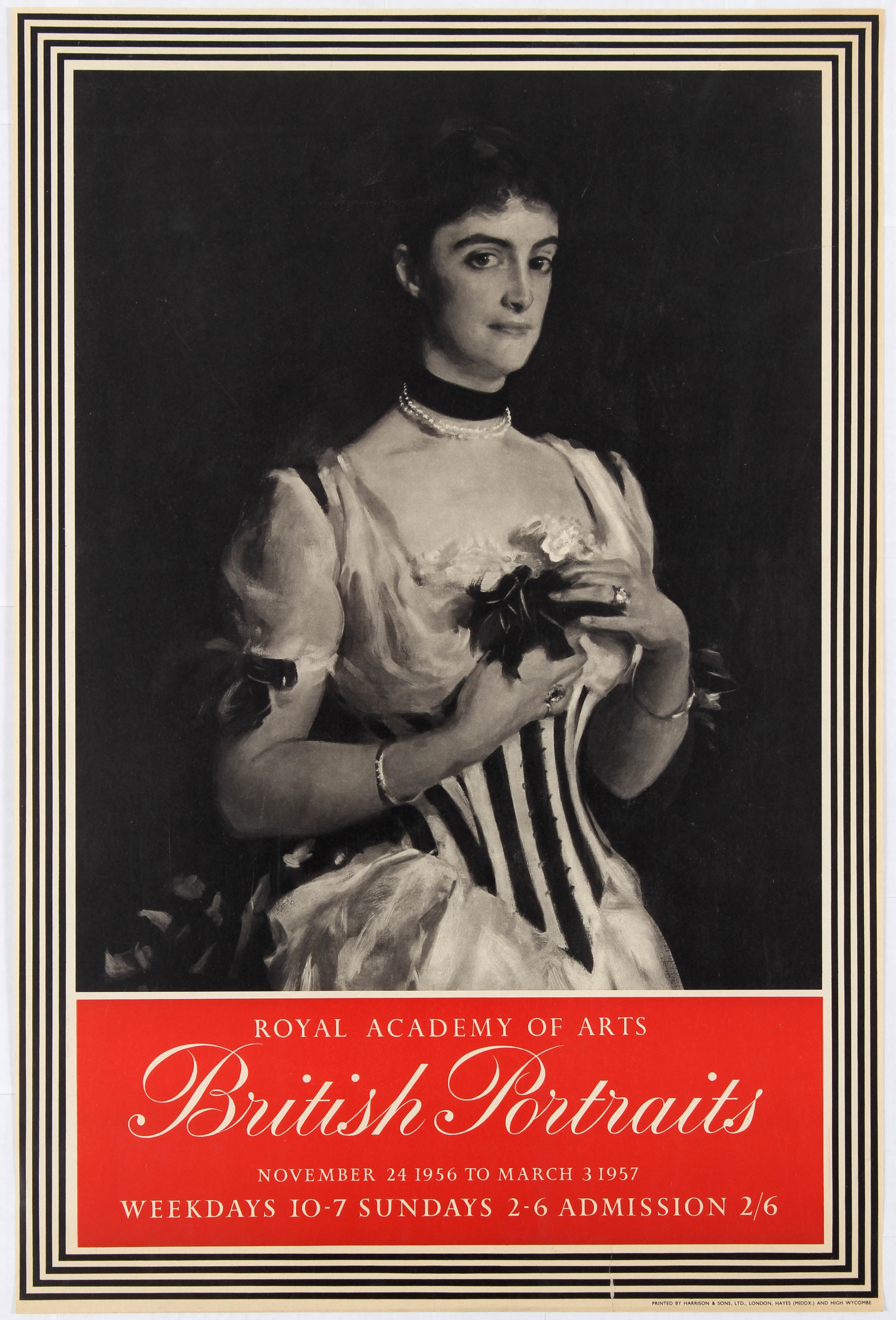Lot 1509 - Advertising Poster Royal Academy of Arts British Portraits