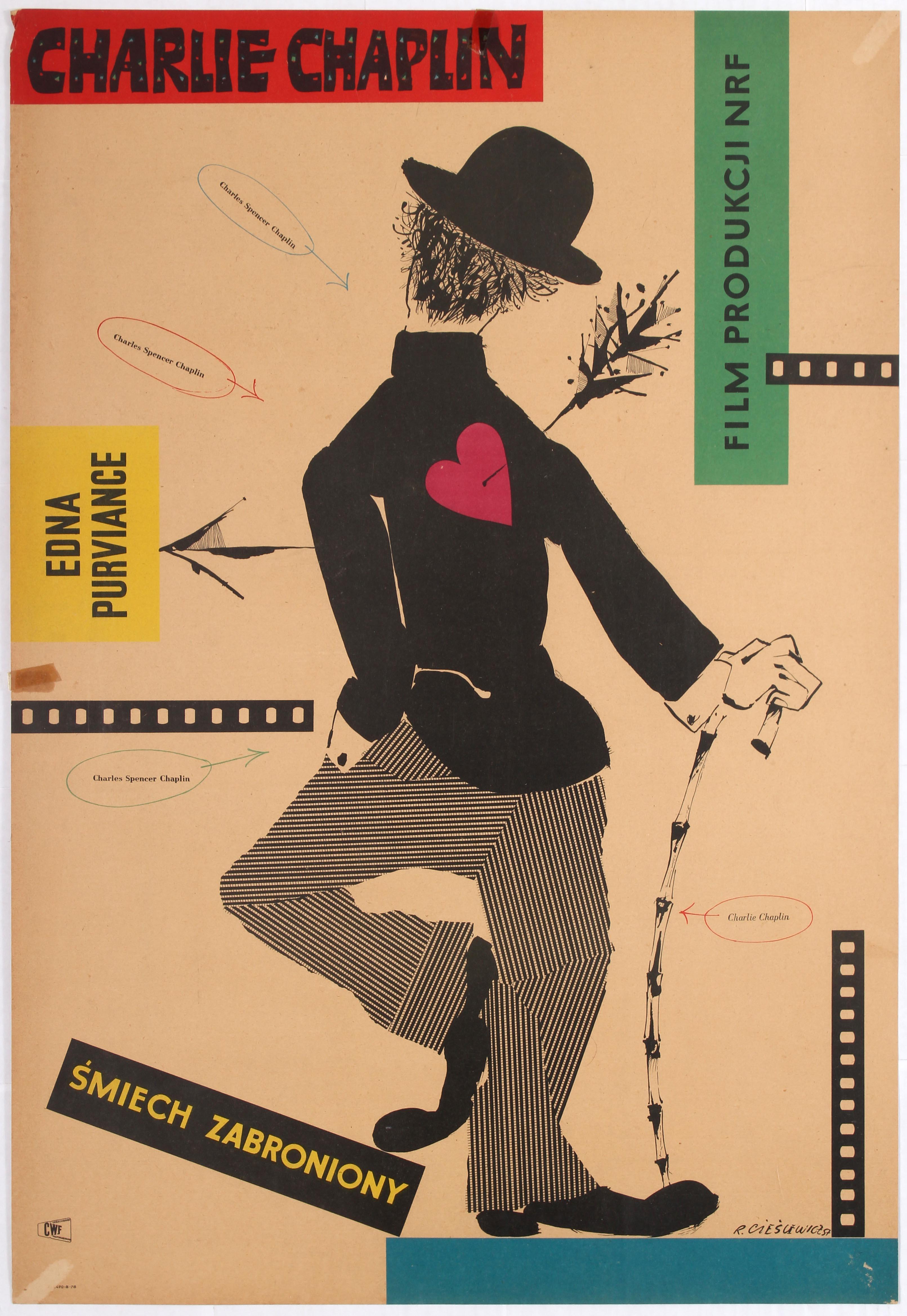 Polish Poster for a Charlie Chaplin Films Festival Smiech ...