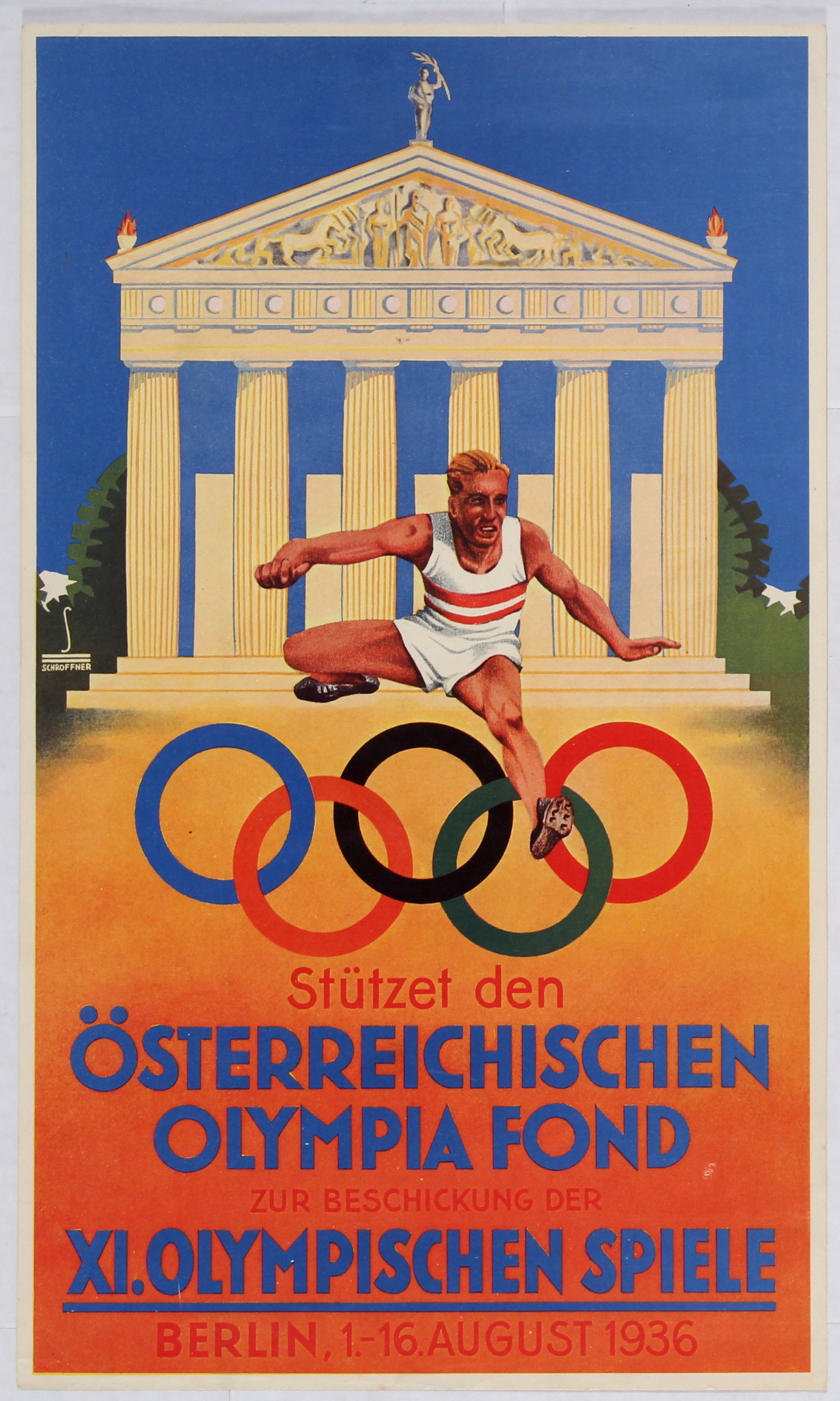 Lot 3300 - Sport Poster Olympic Games Fund Berlin 1936