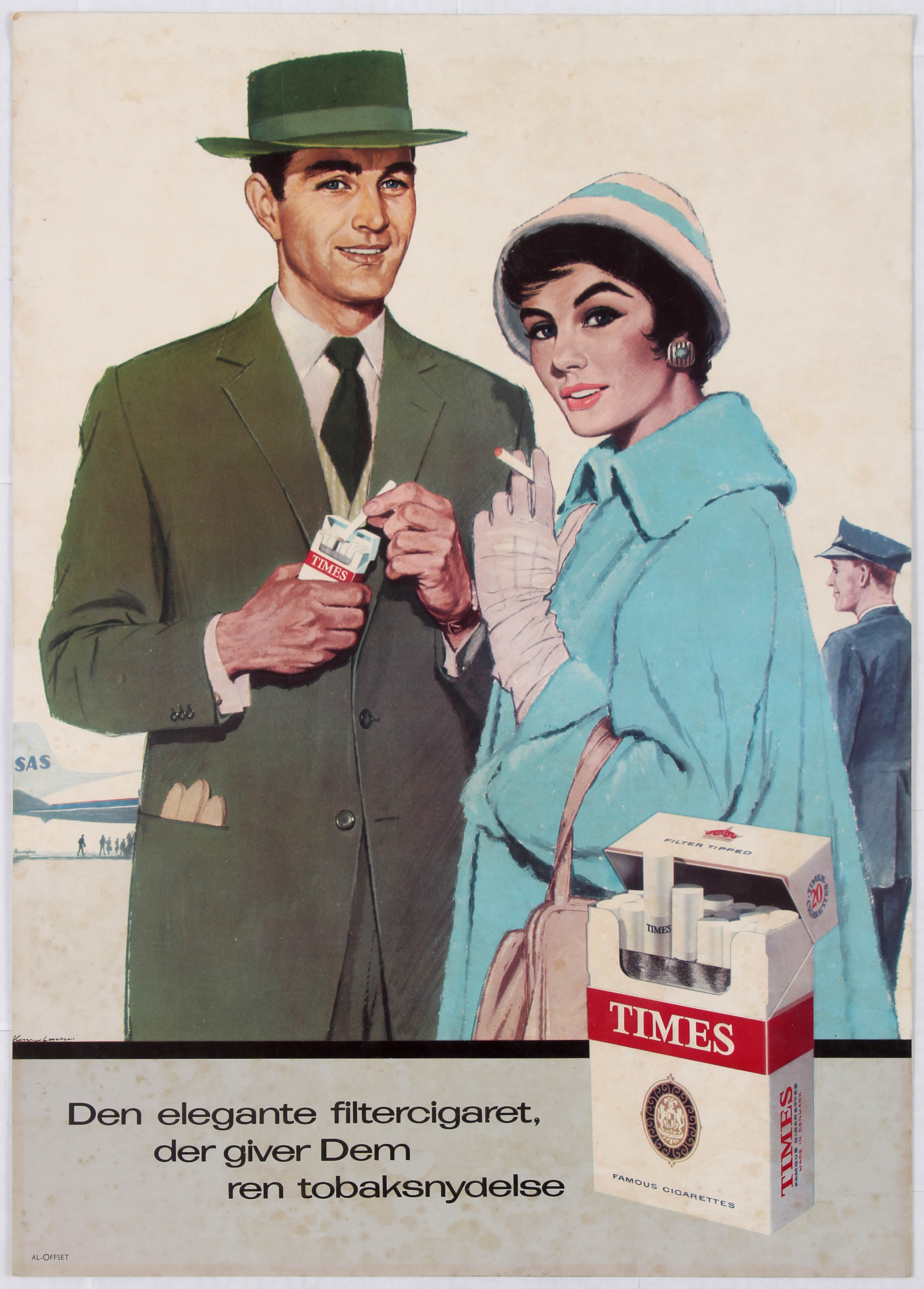 Lot 1501 - Advertising Poster Times Cigarettes Advertising