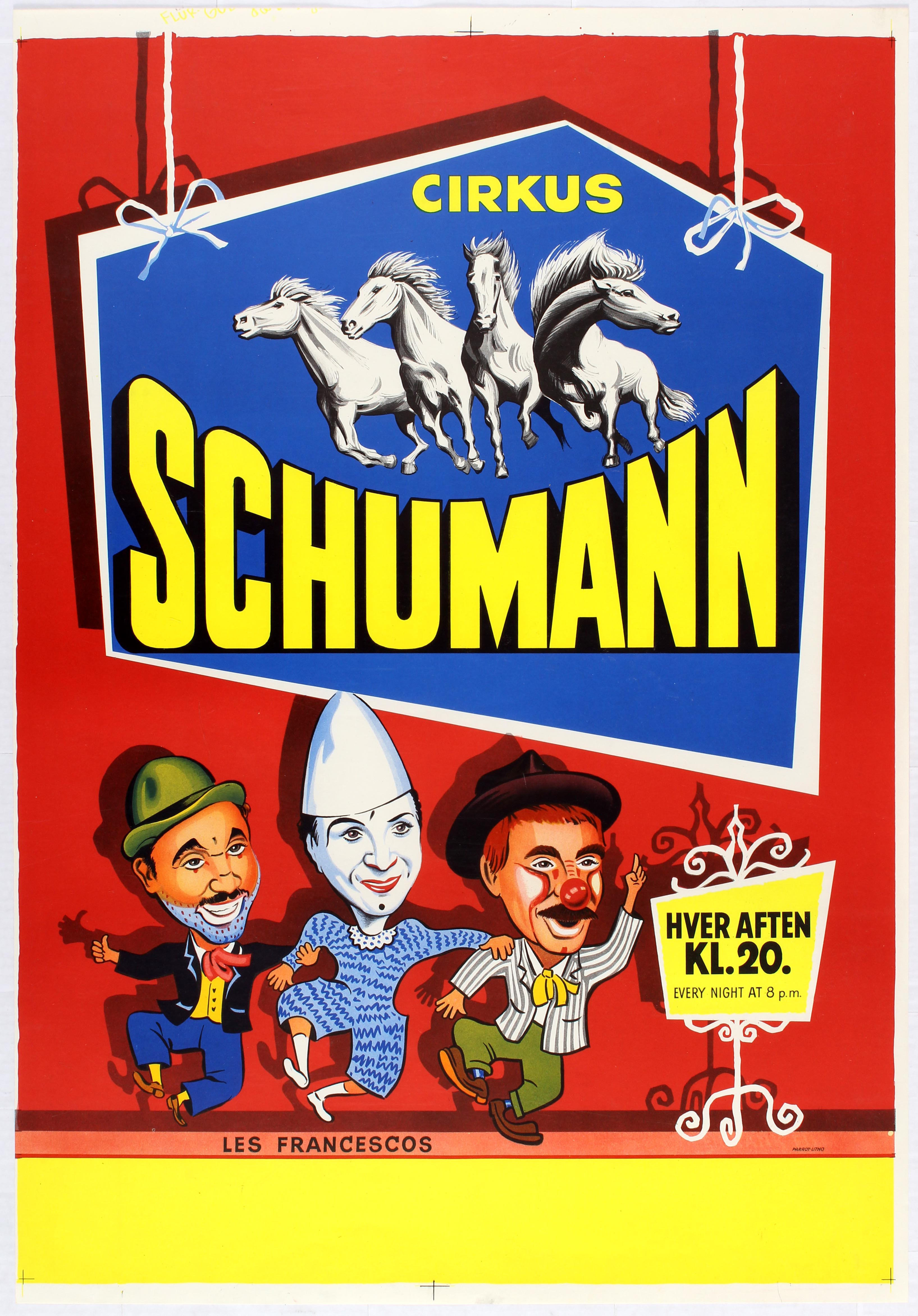 Advertising Poster Cirkus Schumann - Les Francescos