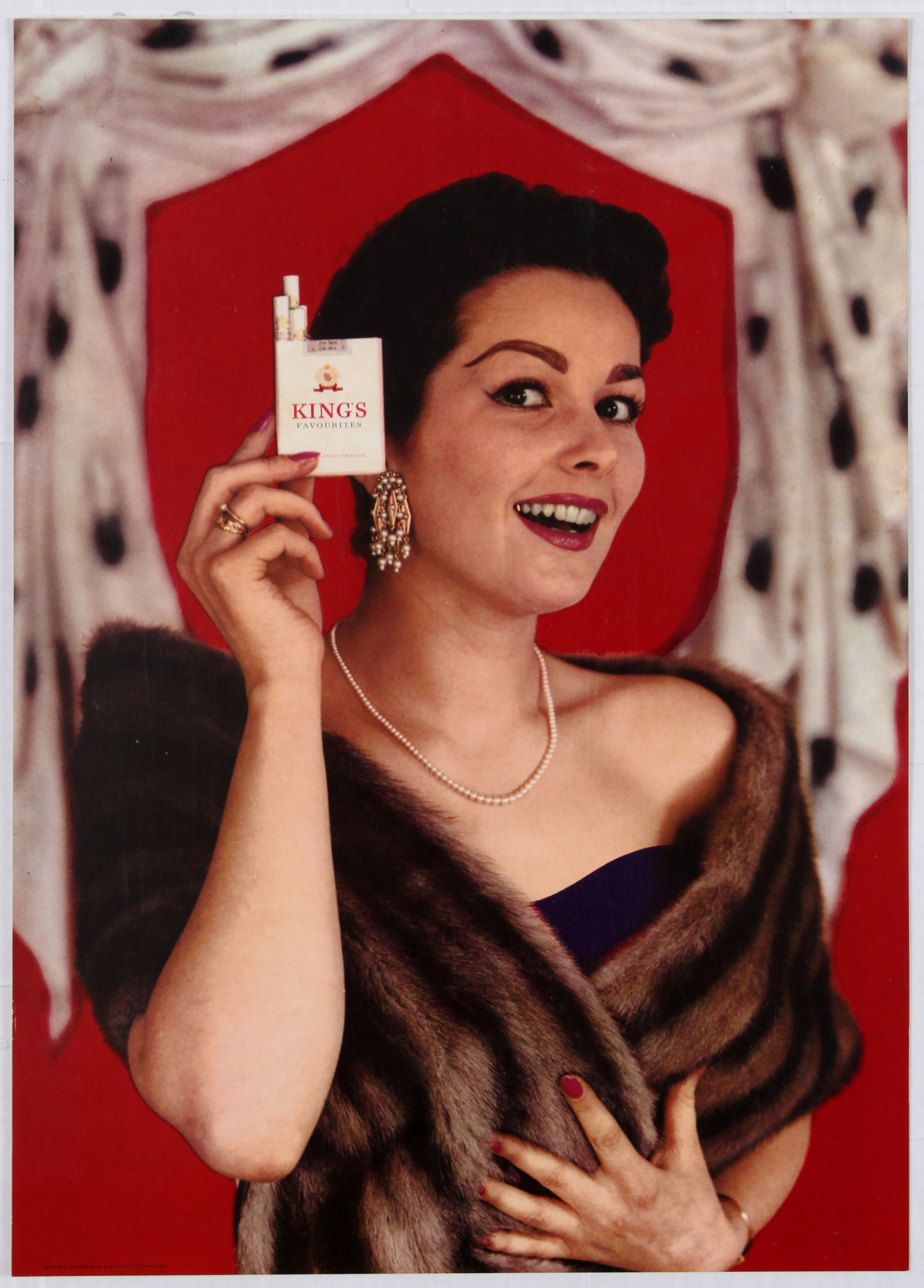 Lot 1602 - Advertising Poster King's Cigarettes Advertising