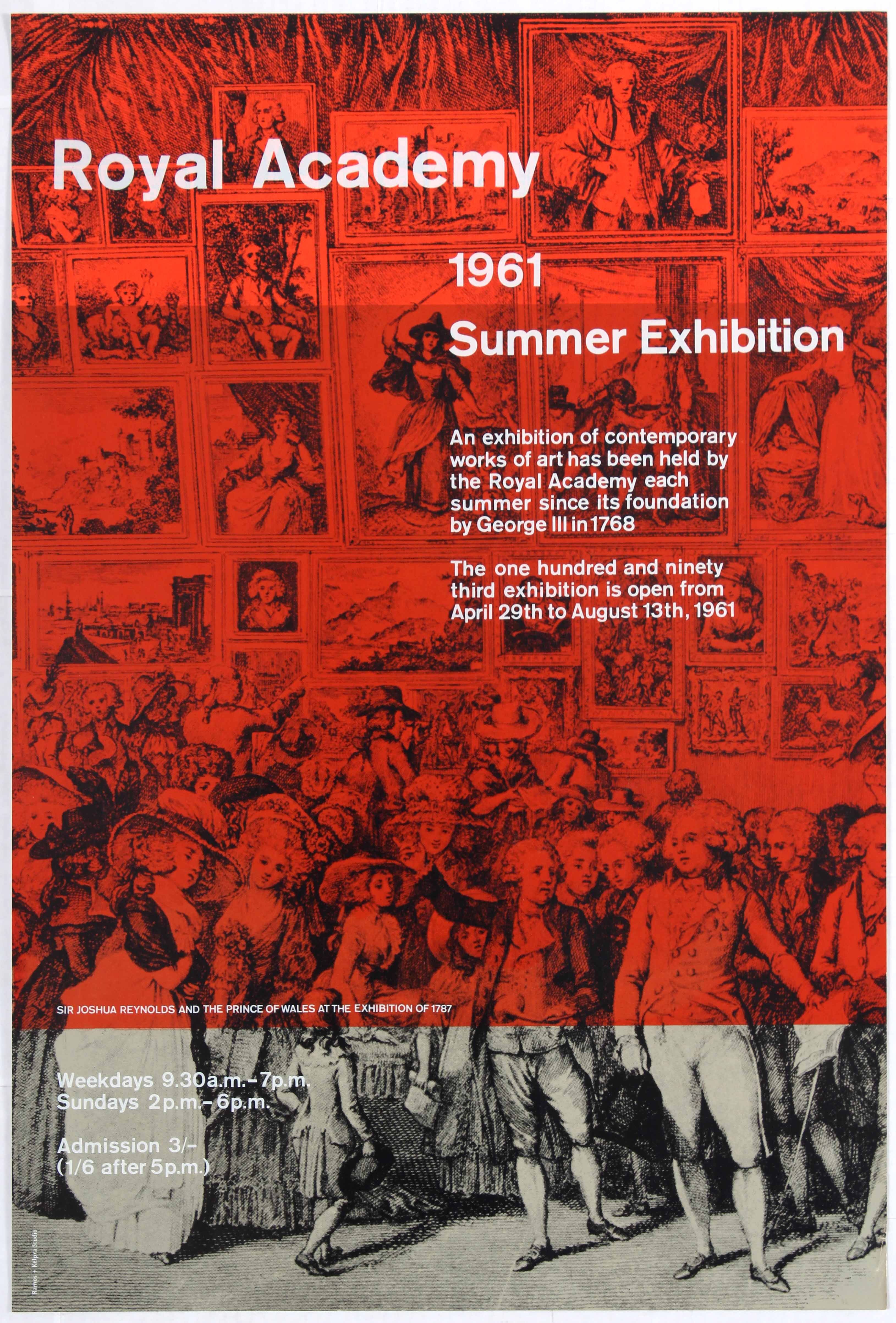 Lot 1620 - Advertising Poster Royal Academy Summer Exhibition 1961.