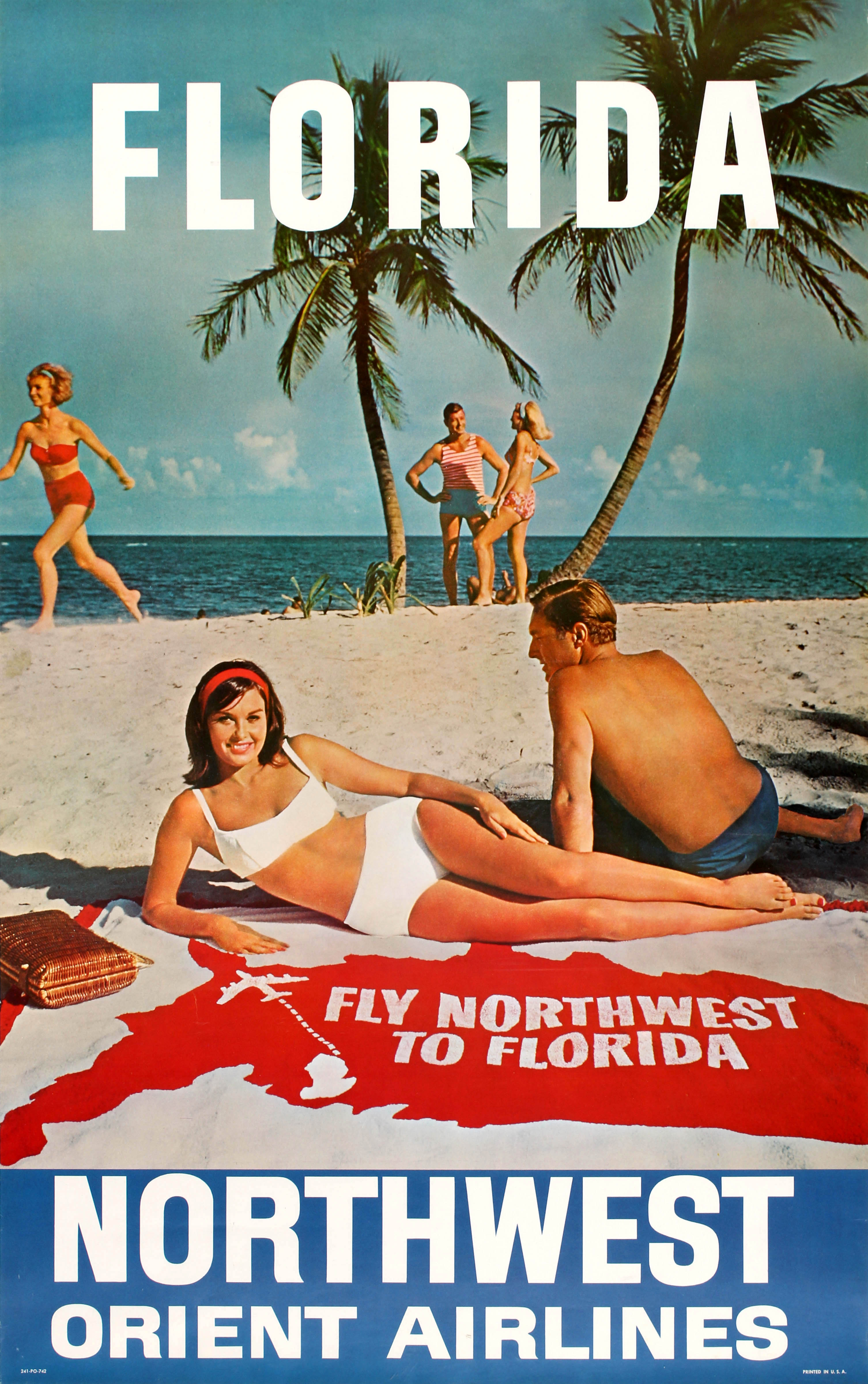 Lot 2601 - Travel Poster Florida Northwest Orient Airlines