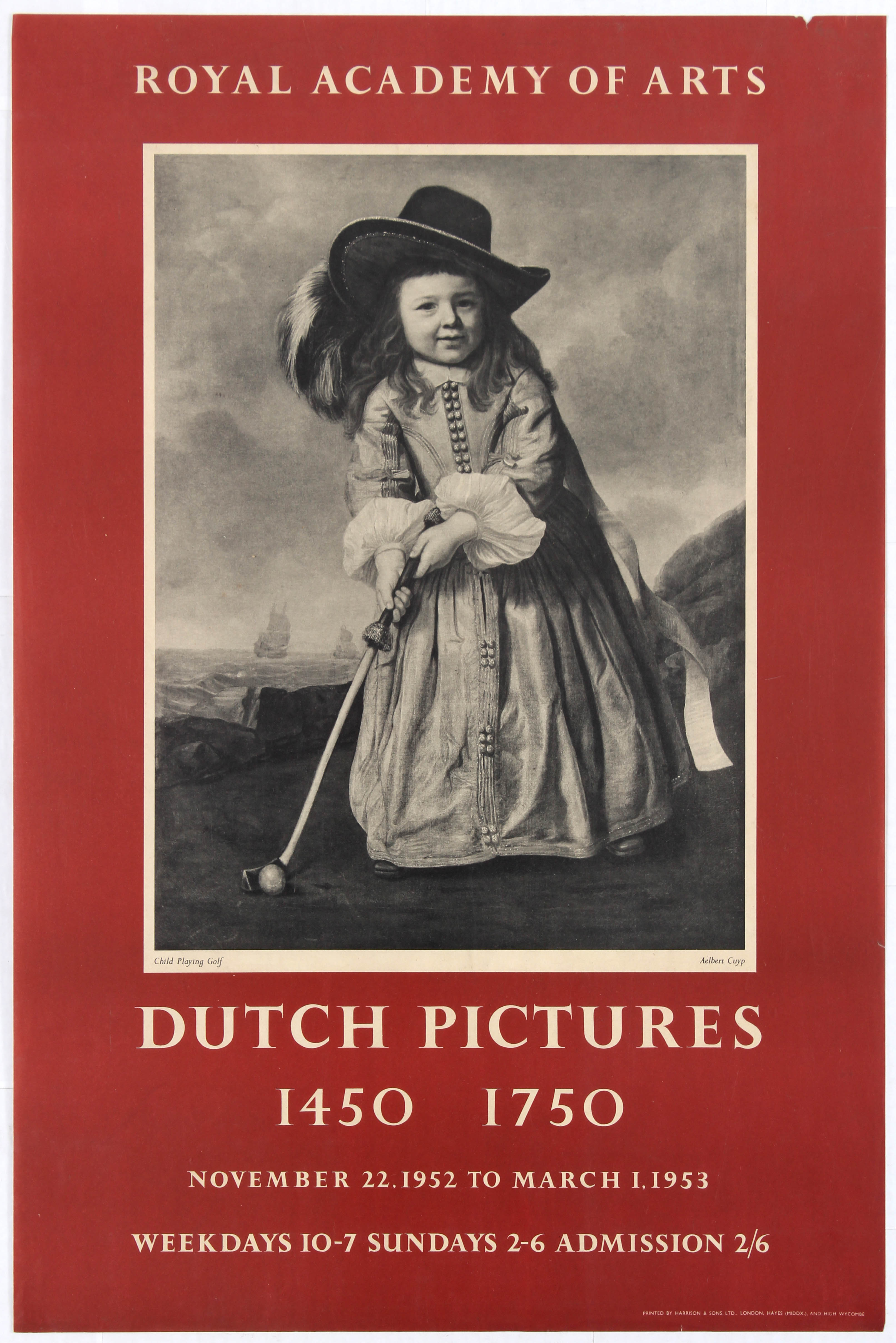 Lot 1507 - Advertising Poster Royal Academy of Arts Dutch Pictures 1450 1750