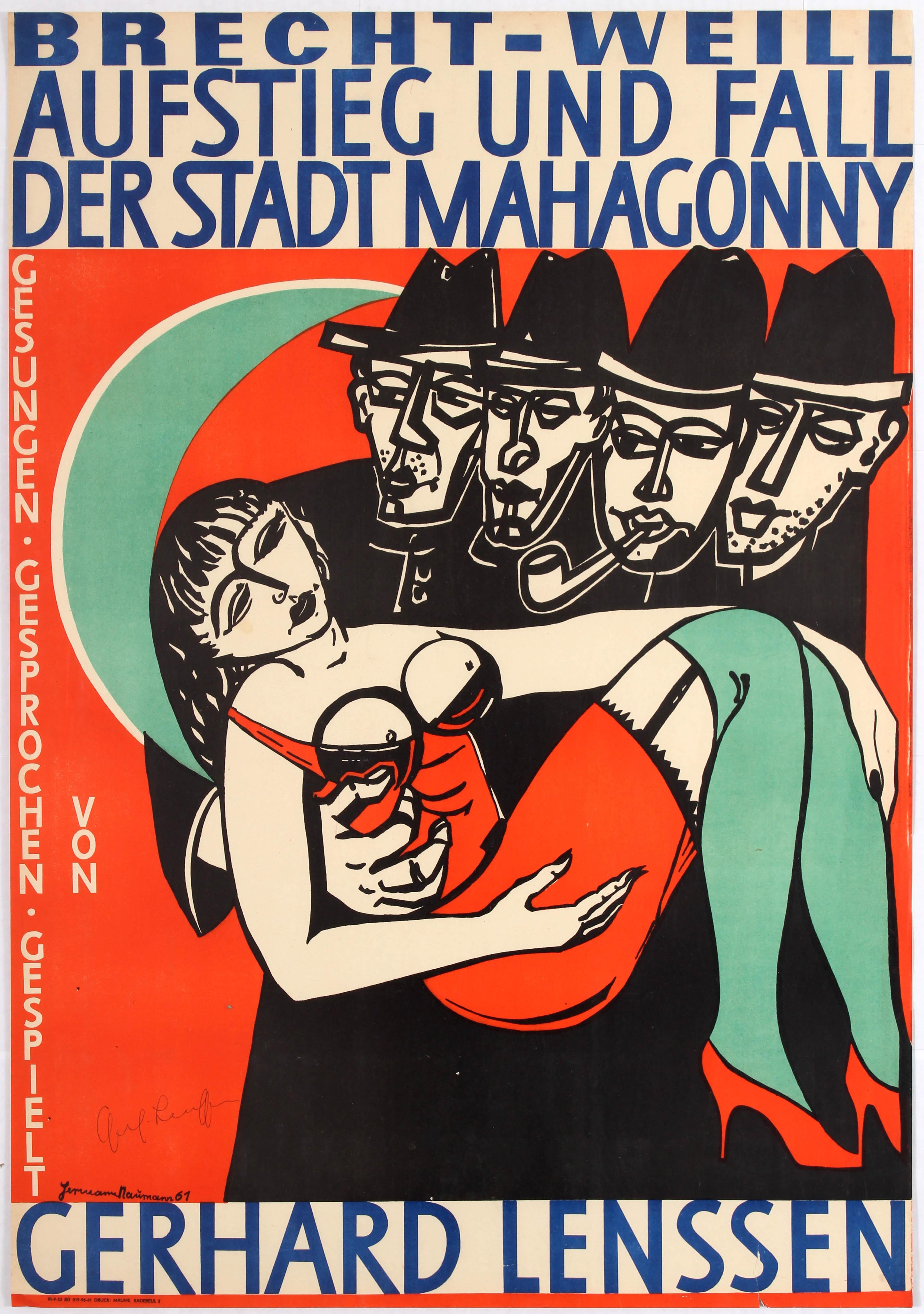 German Advertising Poster Satirical Opera