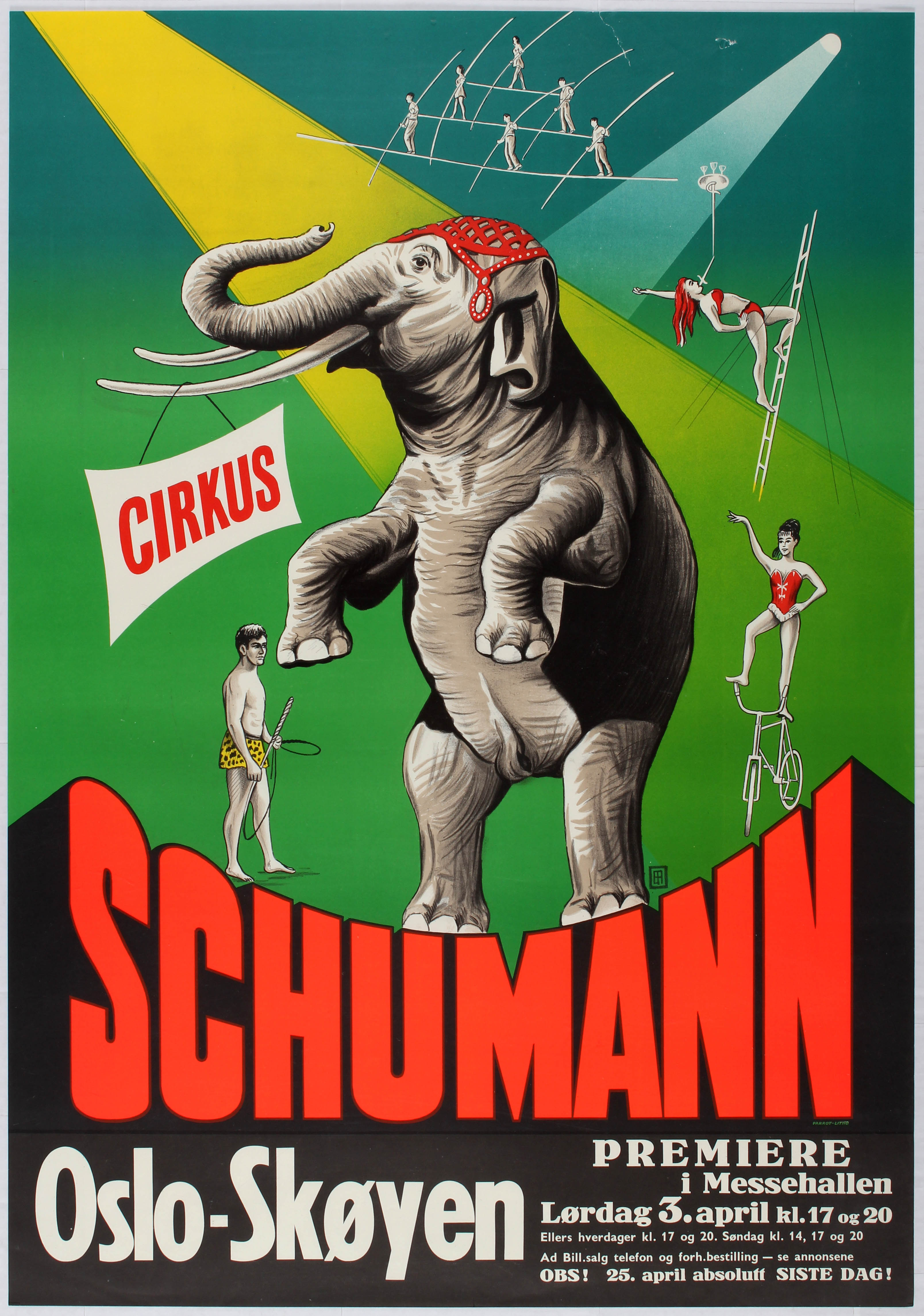Lot 1701 - Advertising Poster Cirkus Schumann - Oslo