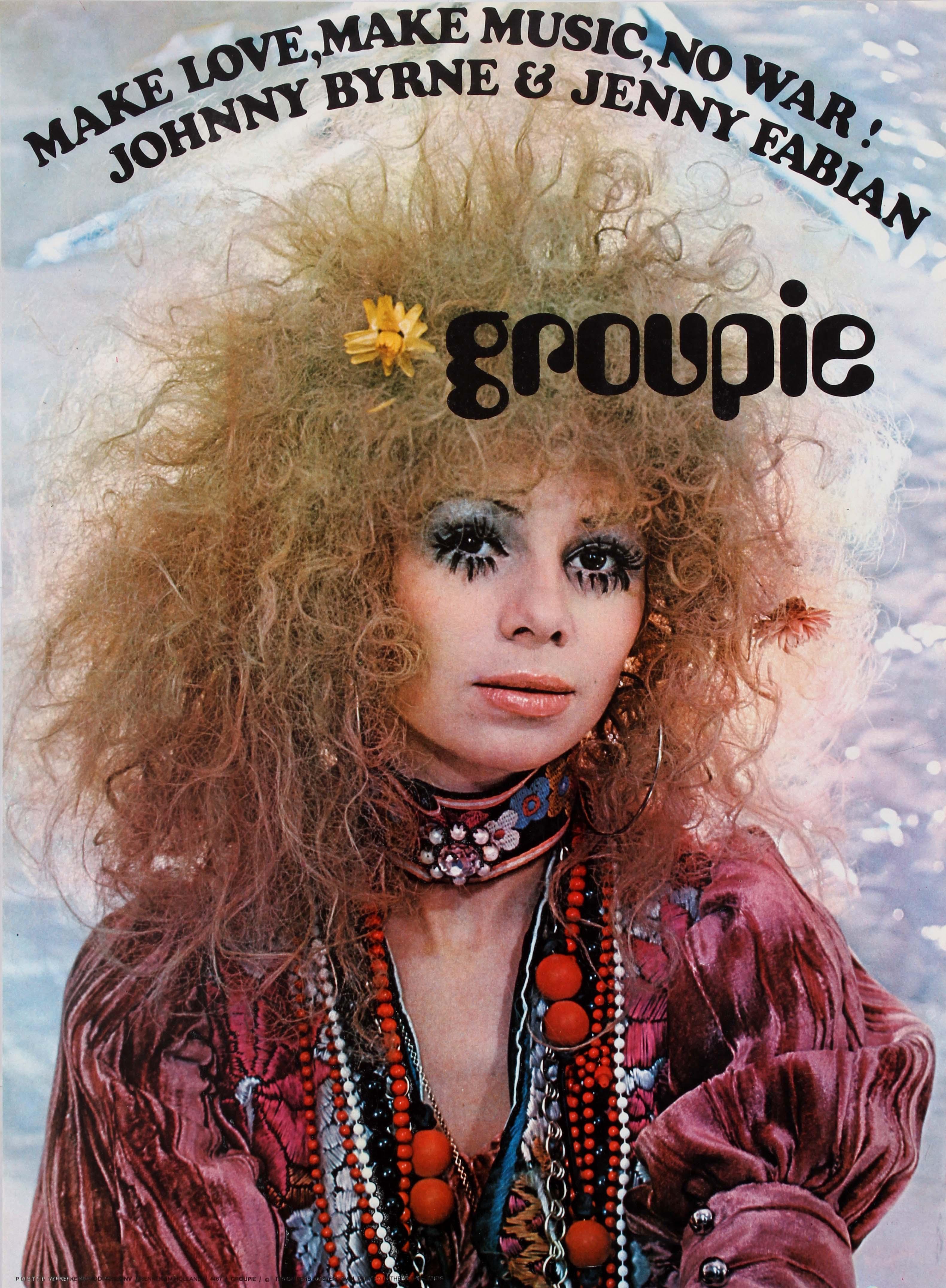 Advertising Poster Groupie - Make Love, Make Music, No War