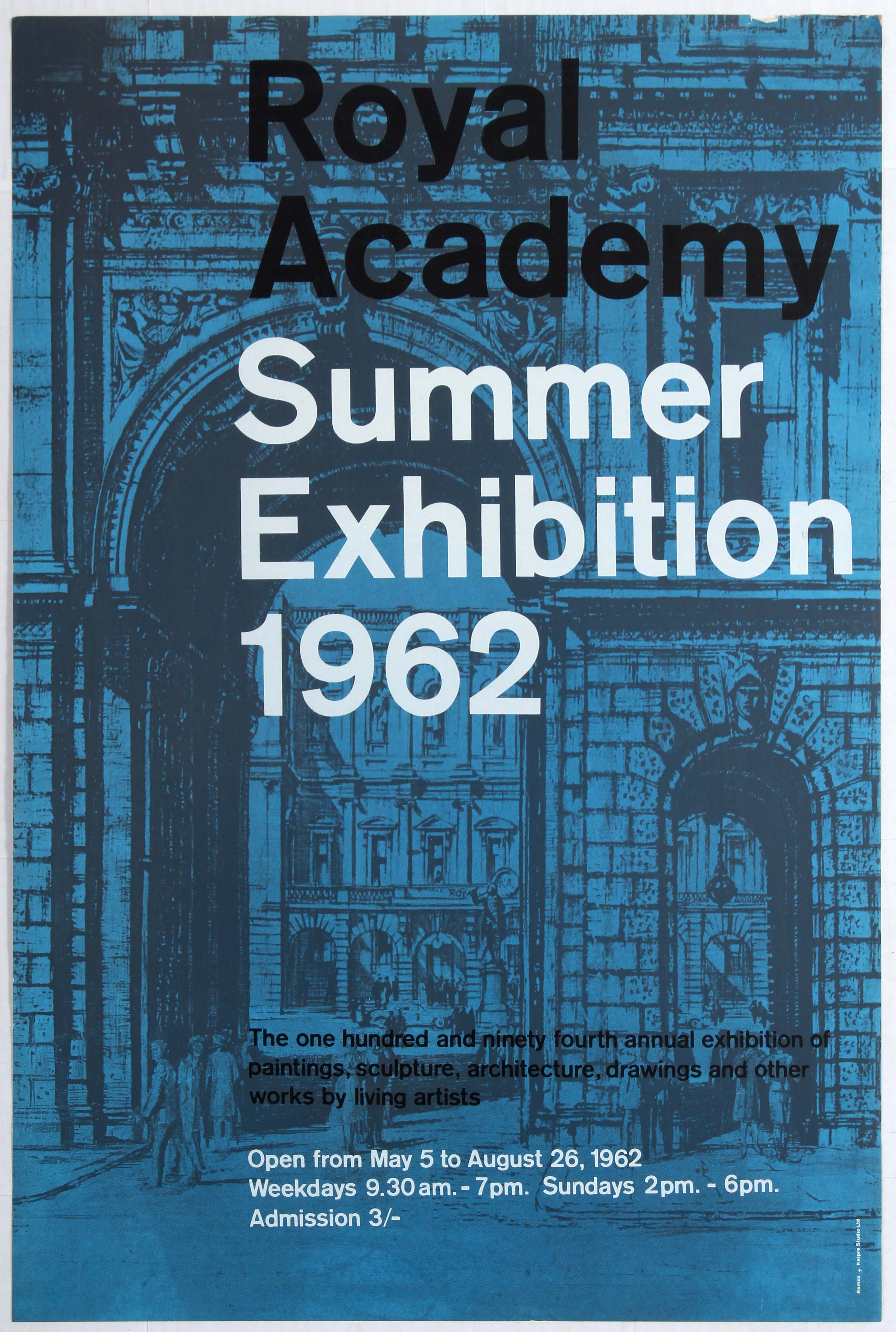 Lot 1617 - Advertising Poster Royal Academy Summer Exhibition 1962.
