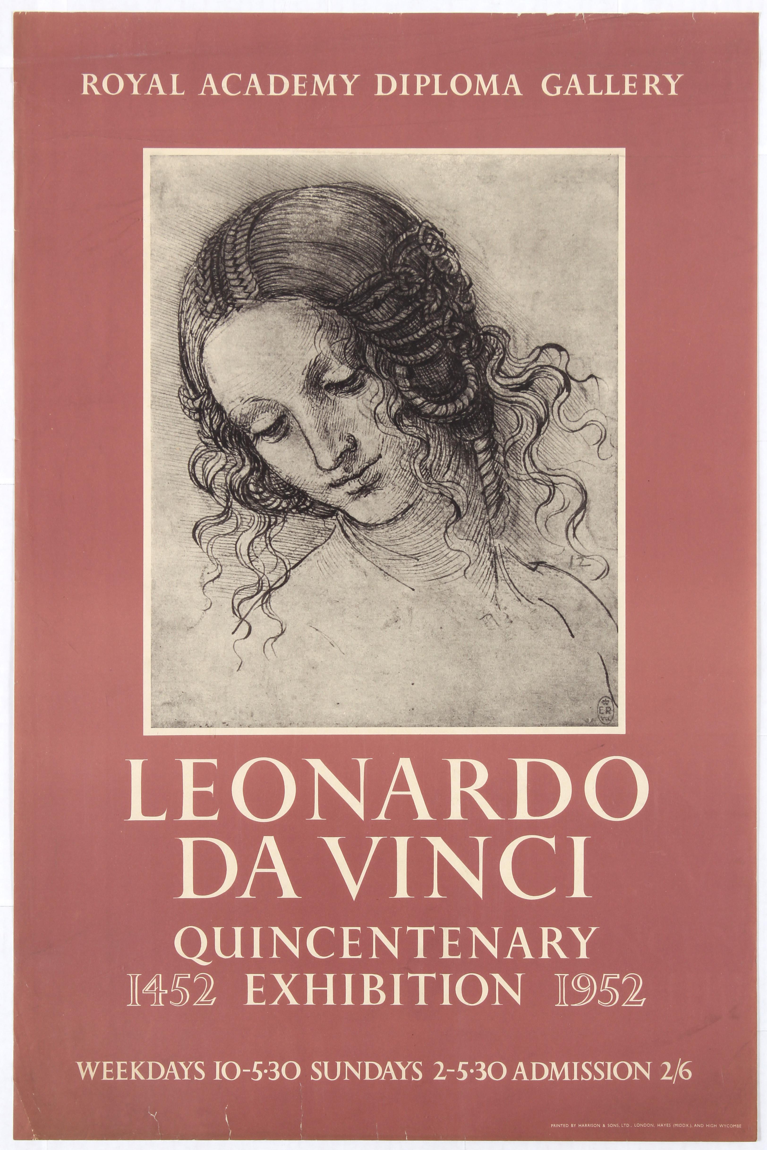 Lot 1504 - Advertising Poster Royal Academy Diploma Gallery Leonardo Da Vinci