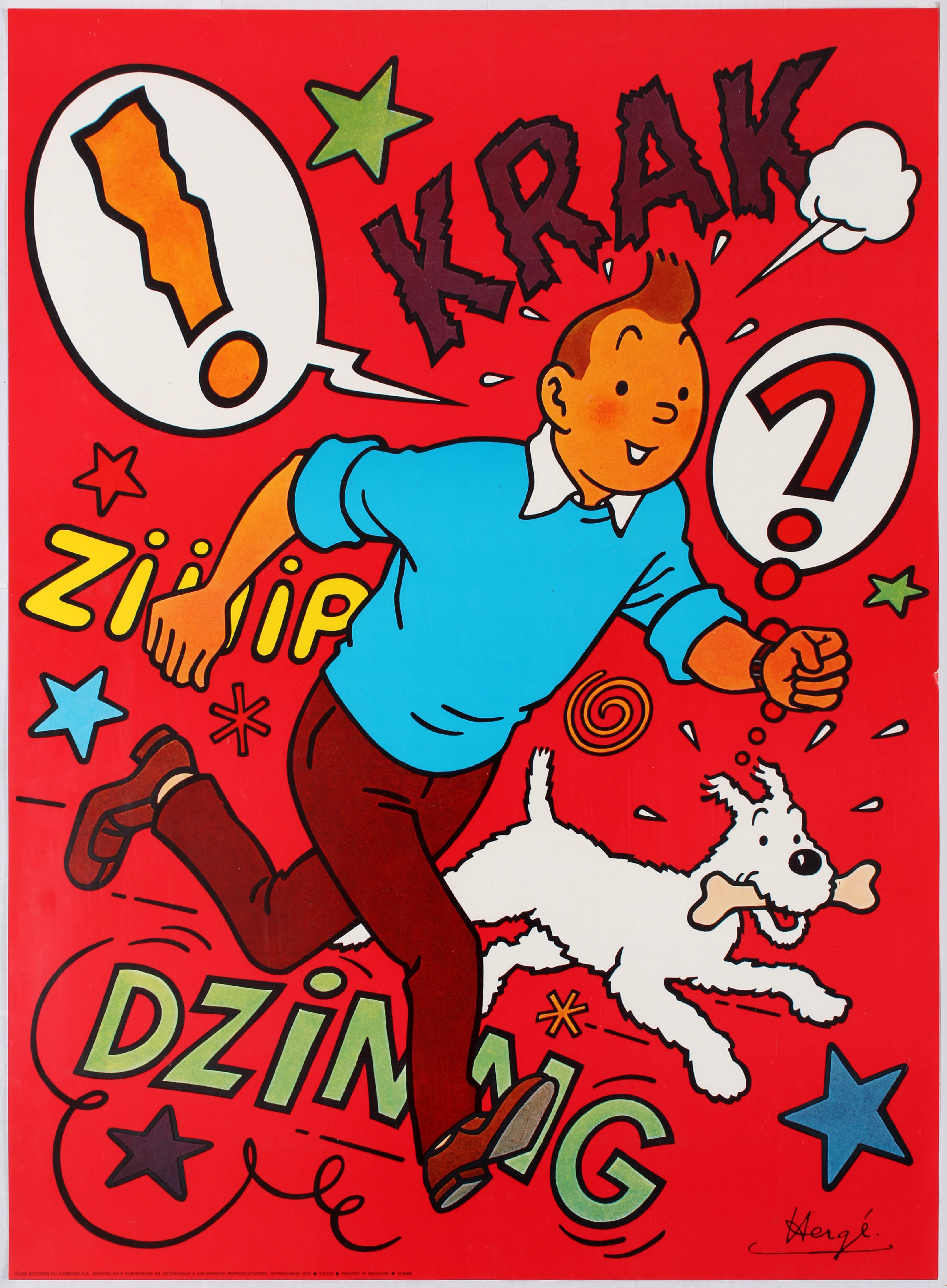 Lot 1707 - Advertising Poster Tintin