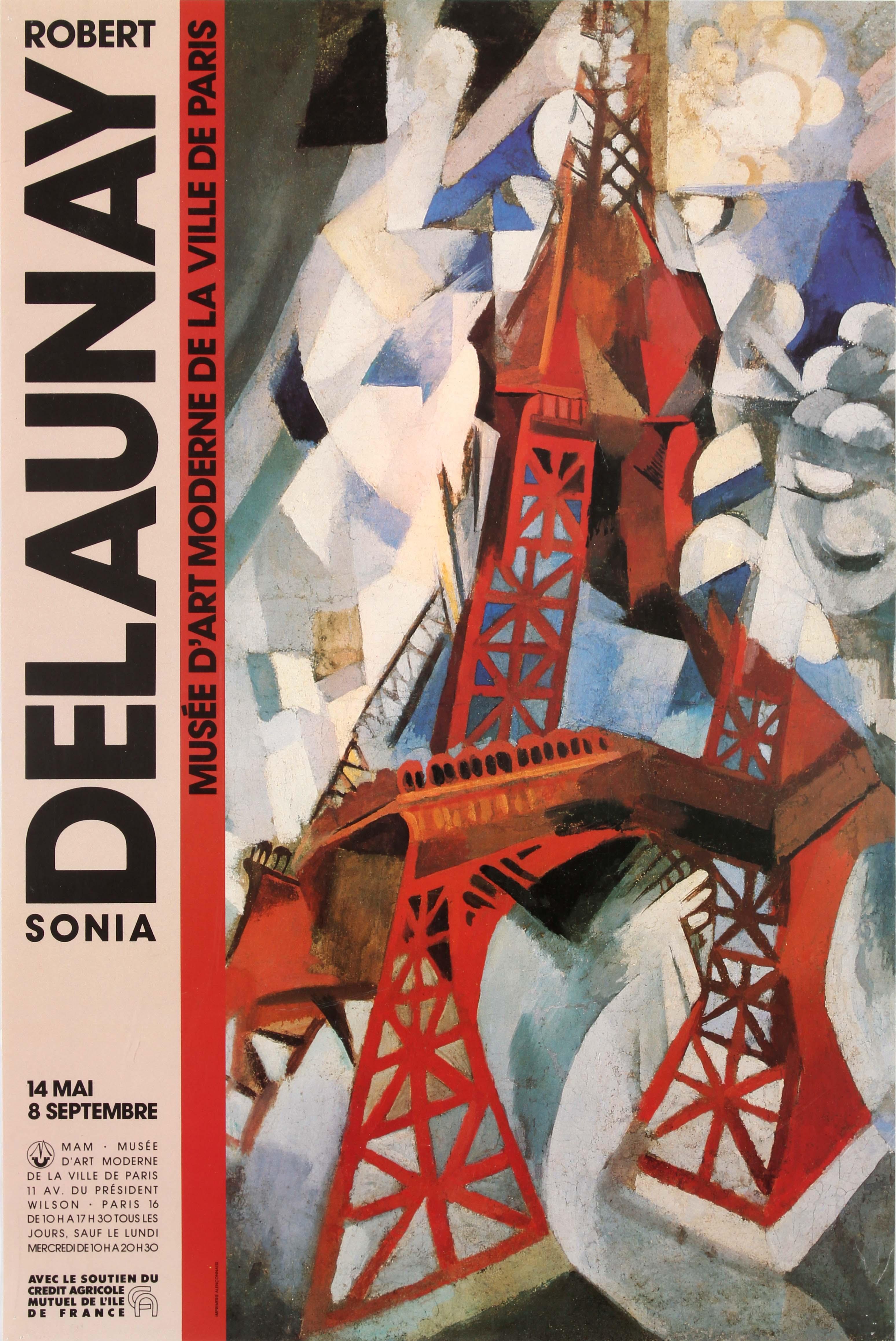 Lot 1804 - Advertising Poster Robert & Sonia Delaunay Exhibition Museum of Modern Art of Paris