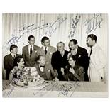 A signed photograph of MGM's top stars of 1939 including Clark Gable, Norma Shearer, and others