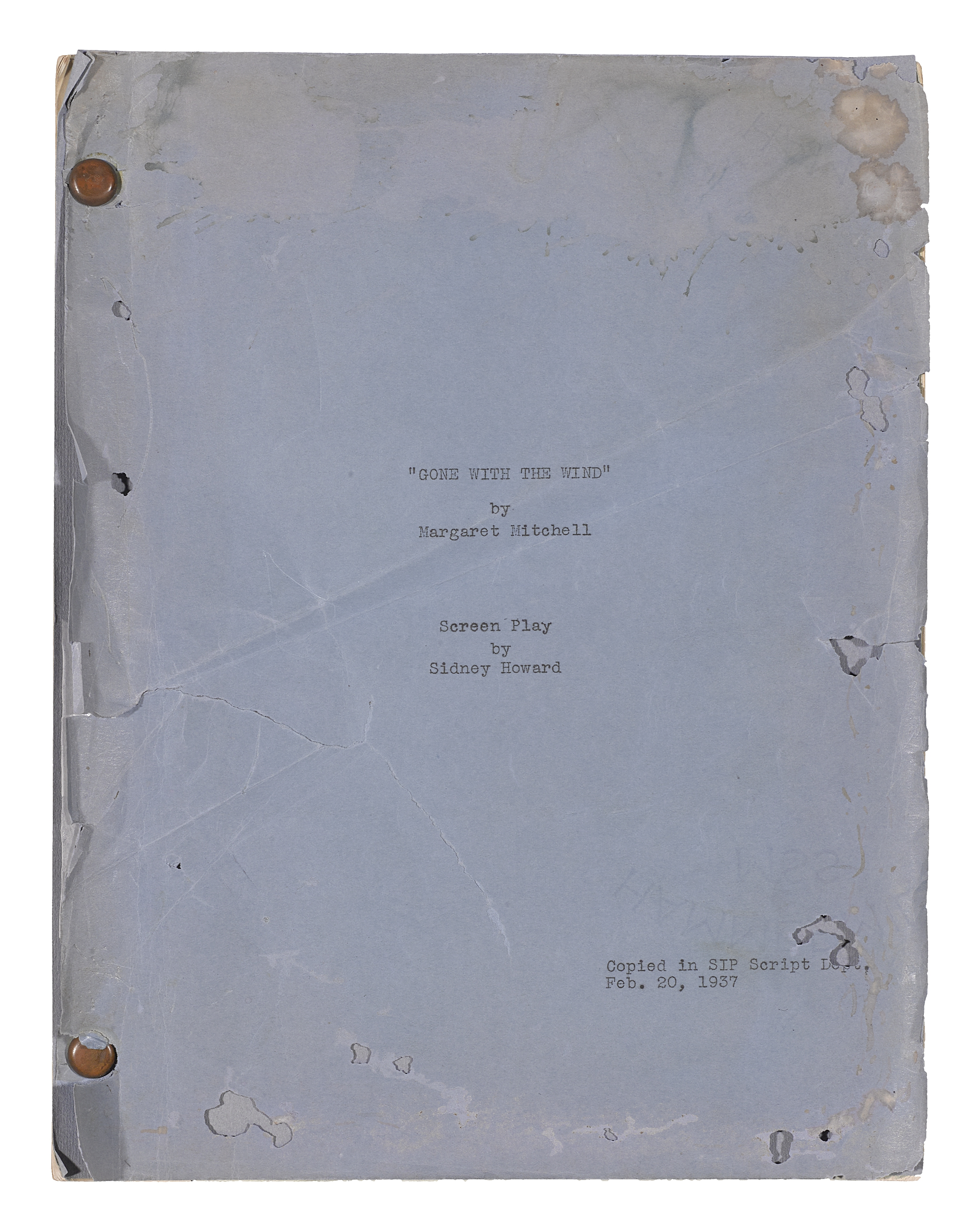 A Gone With the Wind screenplay - Image 3 of 3