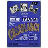 A Casablanca hand-painted promotional display