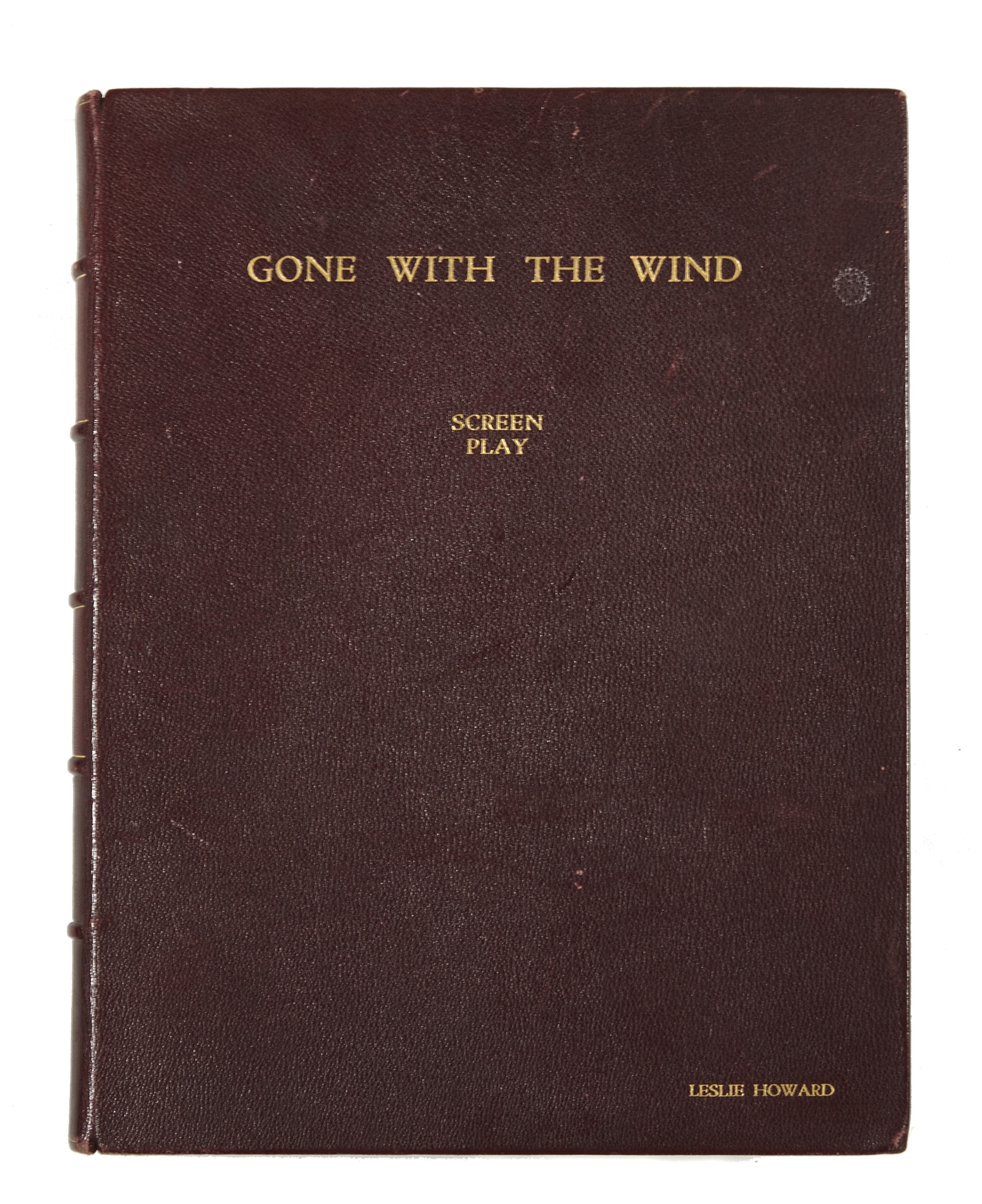A Leslie Howard custom-bound final shooting script of Gone With the Wind, gifted to him by David ... - Image 2 of 2