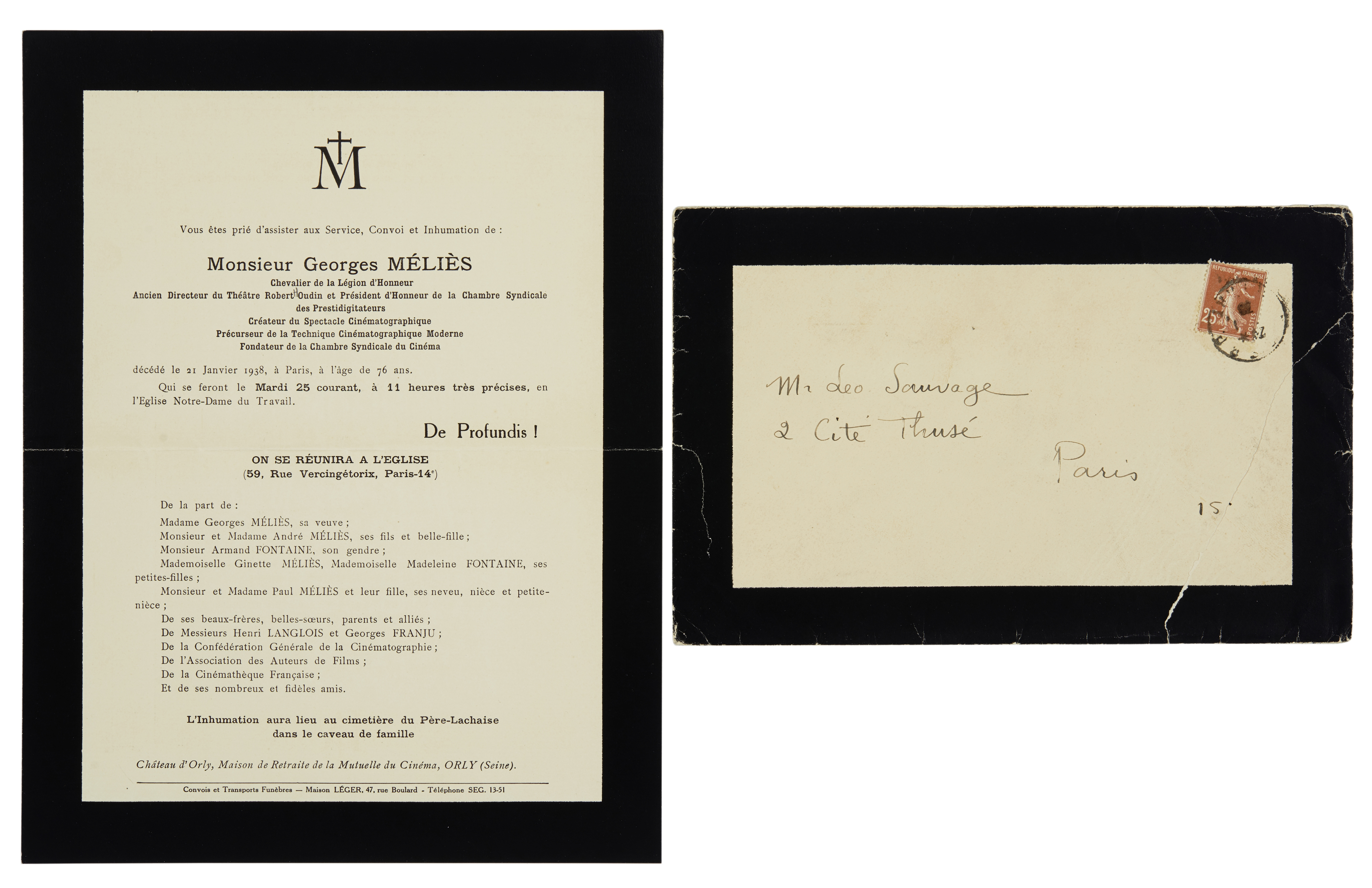 An extensive Georges Méliès archive of autograph material and original photographs - Image 9 of 10