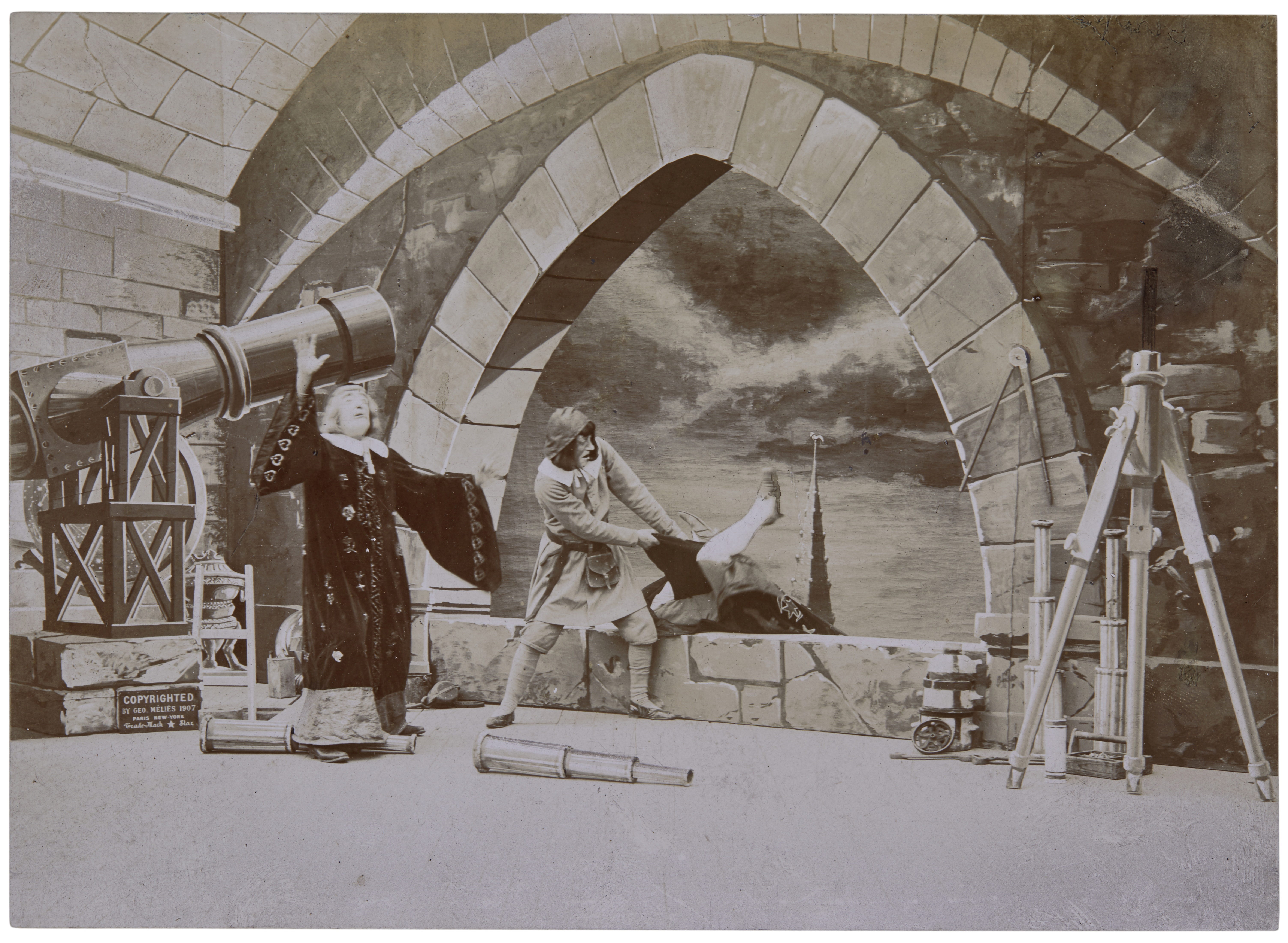 An extensive Georges Méliès archive of autograph material and original photographs - Image 3 of 10