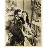 A Clark Gable and Vivien Leigh signed photograph from Gone With the Wind