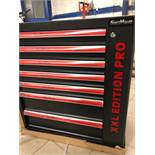 + VAT Brand New Seven Drawer Locking Garage Tool Cabinet With Lockable Casters-Seven EVA Drawers of