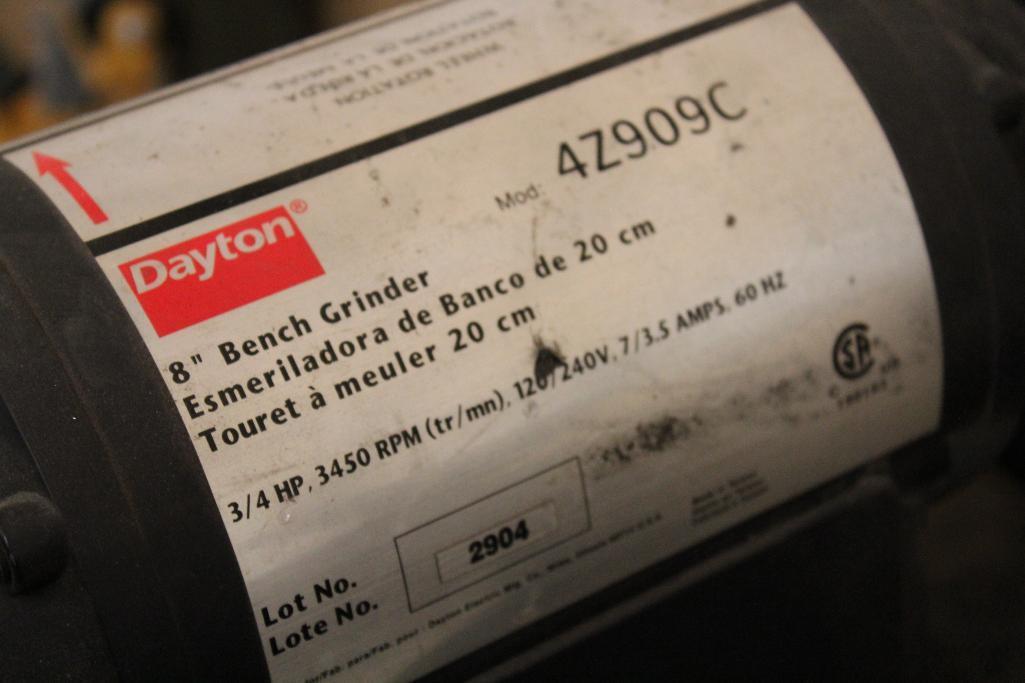 Lot 36 - Dayton 4Z909C .75 hp, 1ph bench grinder