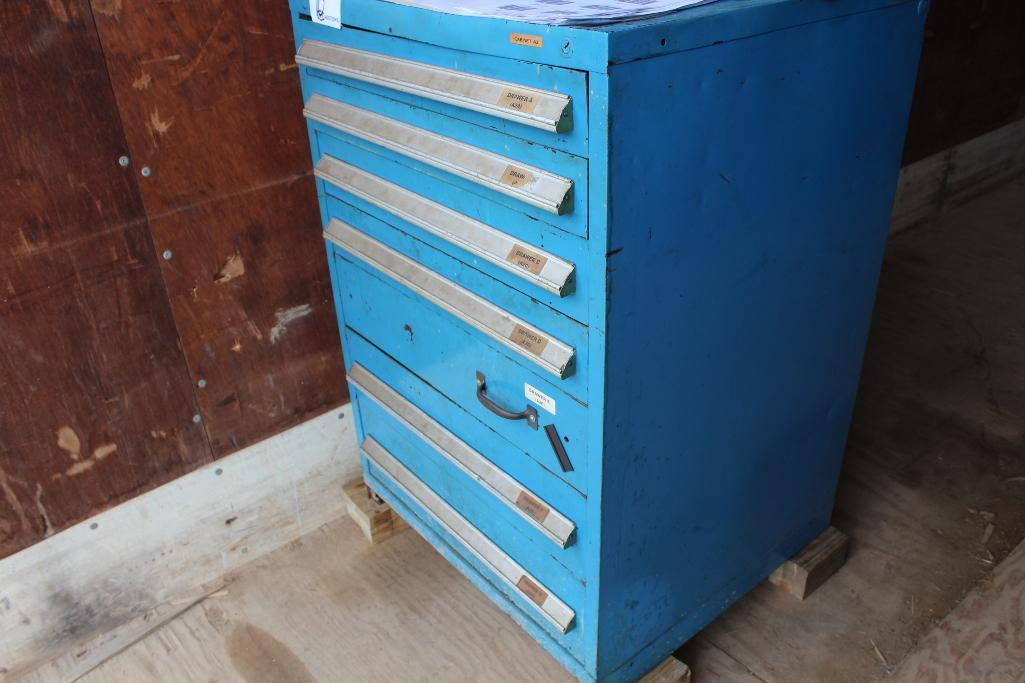 Lot 10 - Tooling cabinet w/ plumbing fittings