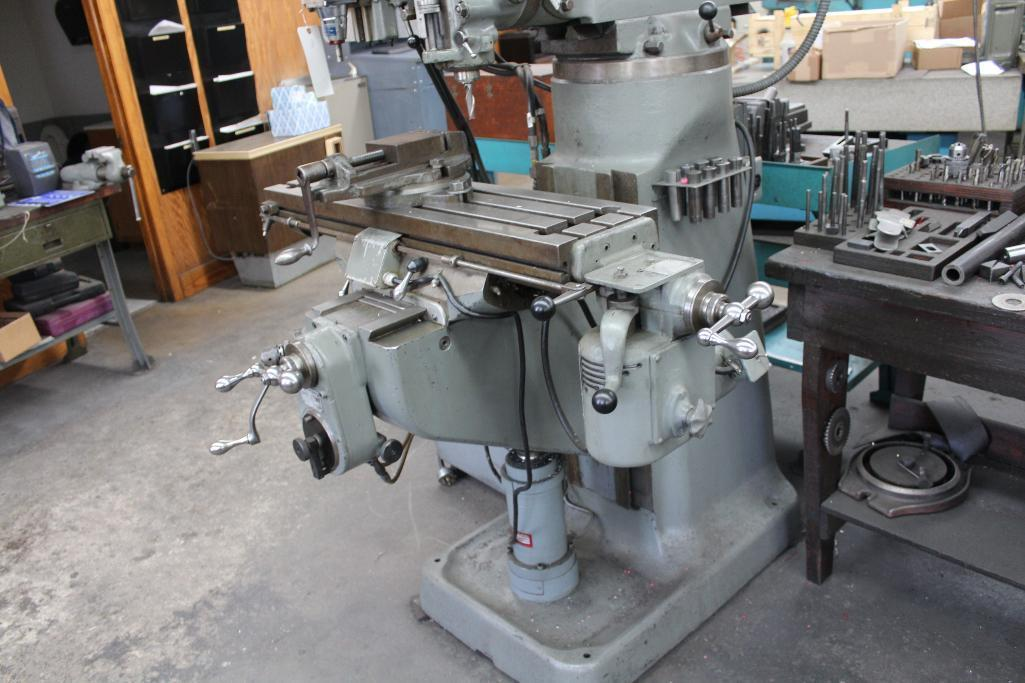 Lot 3 - Bridgeport Mill w/ True-Tracer attachment & Cherrying head