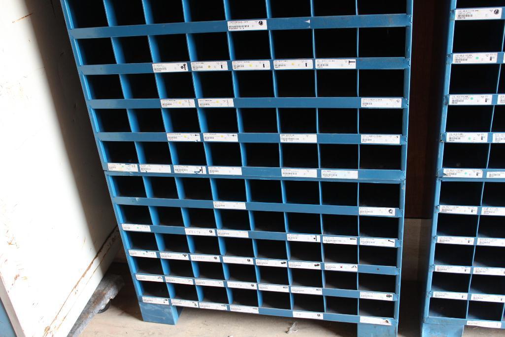 Lot 12 - Barnes hardware bin cabinet