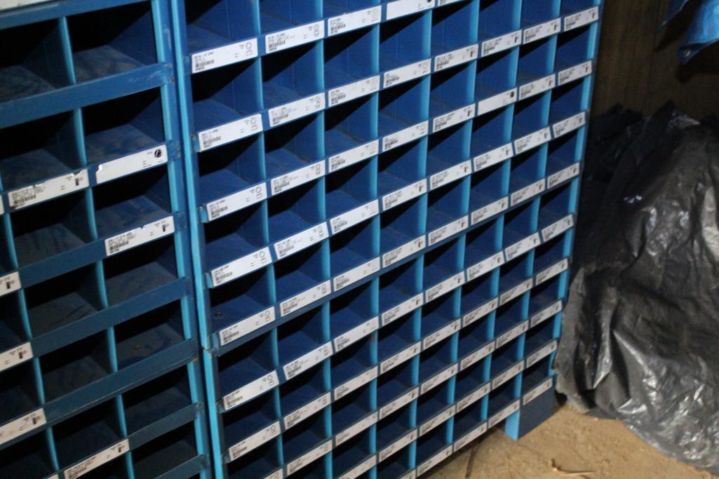 Lot 21 - Barnes hardware bin cabinet