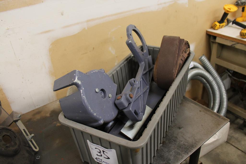 Lot 35 - Baldor belt sander attachment