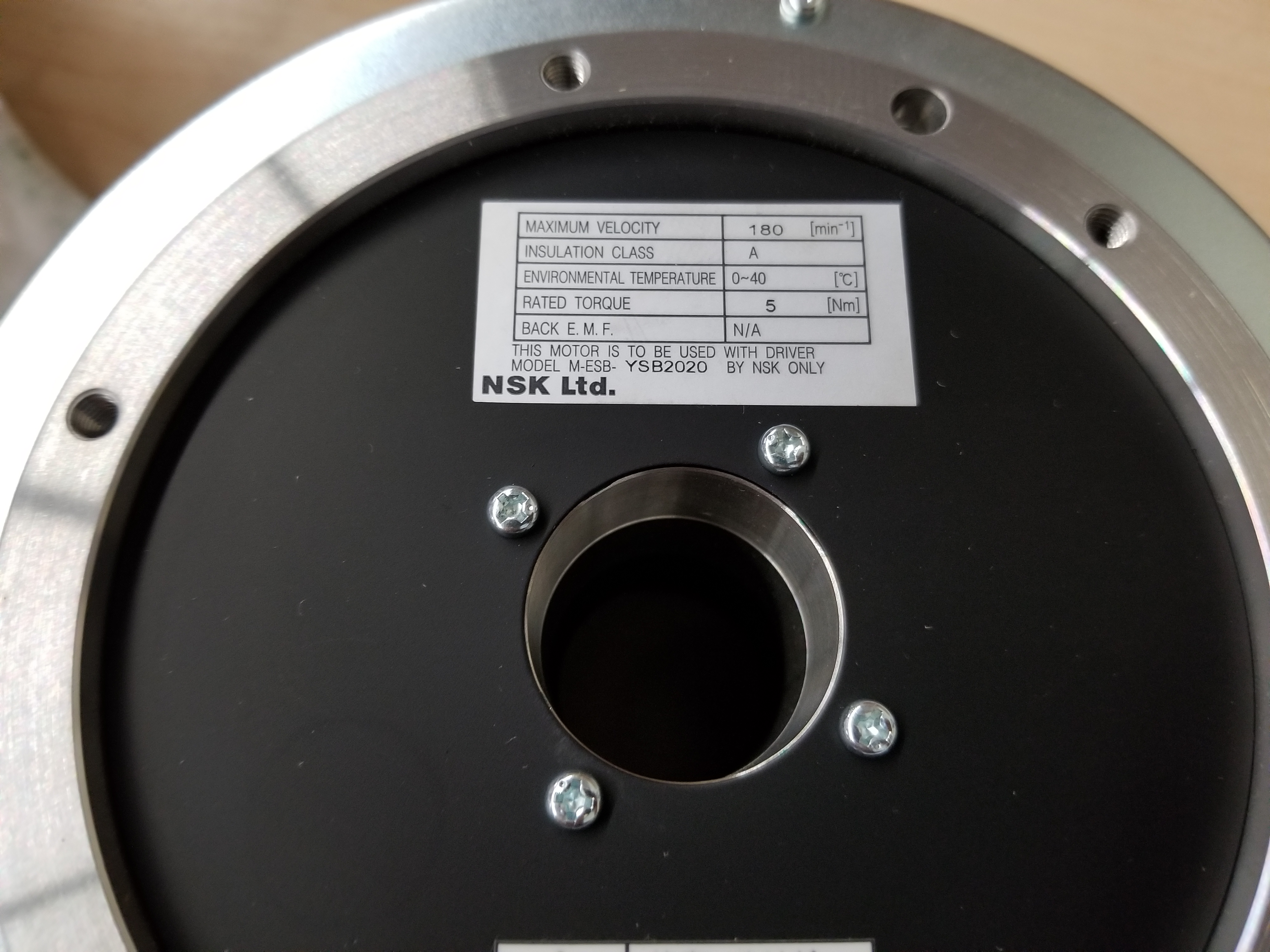 New NSK Megatorque Motor With Used ESB Drive And Pendant - Image 12 of 19