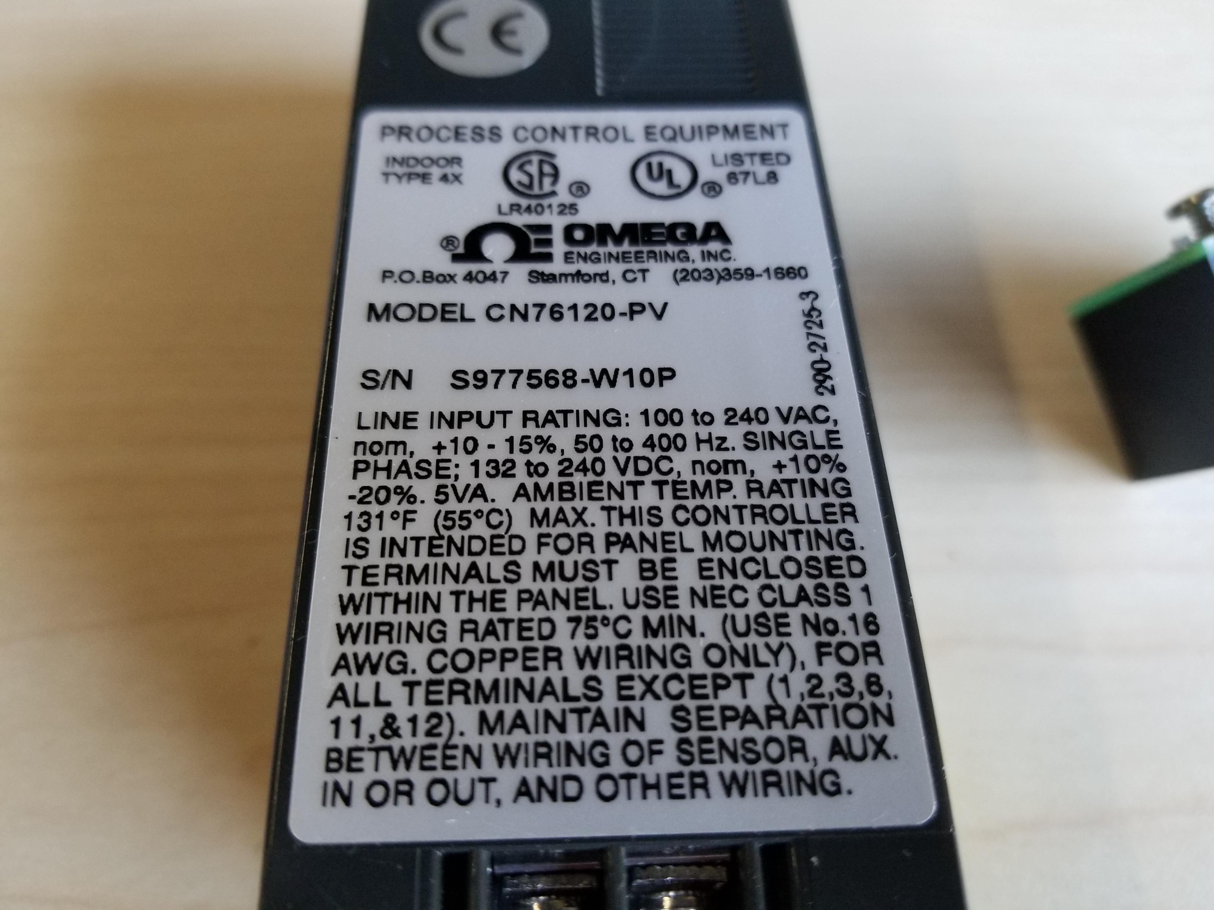 New Omega 1/16 DIN PID Autotune Temperature Controller - Image 3 of 4