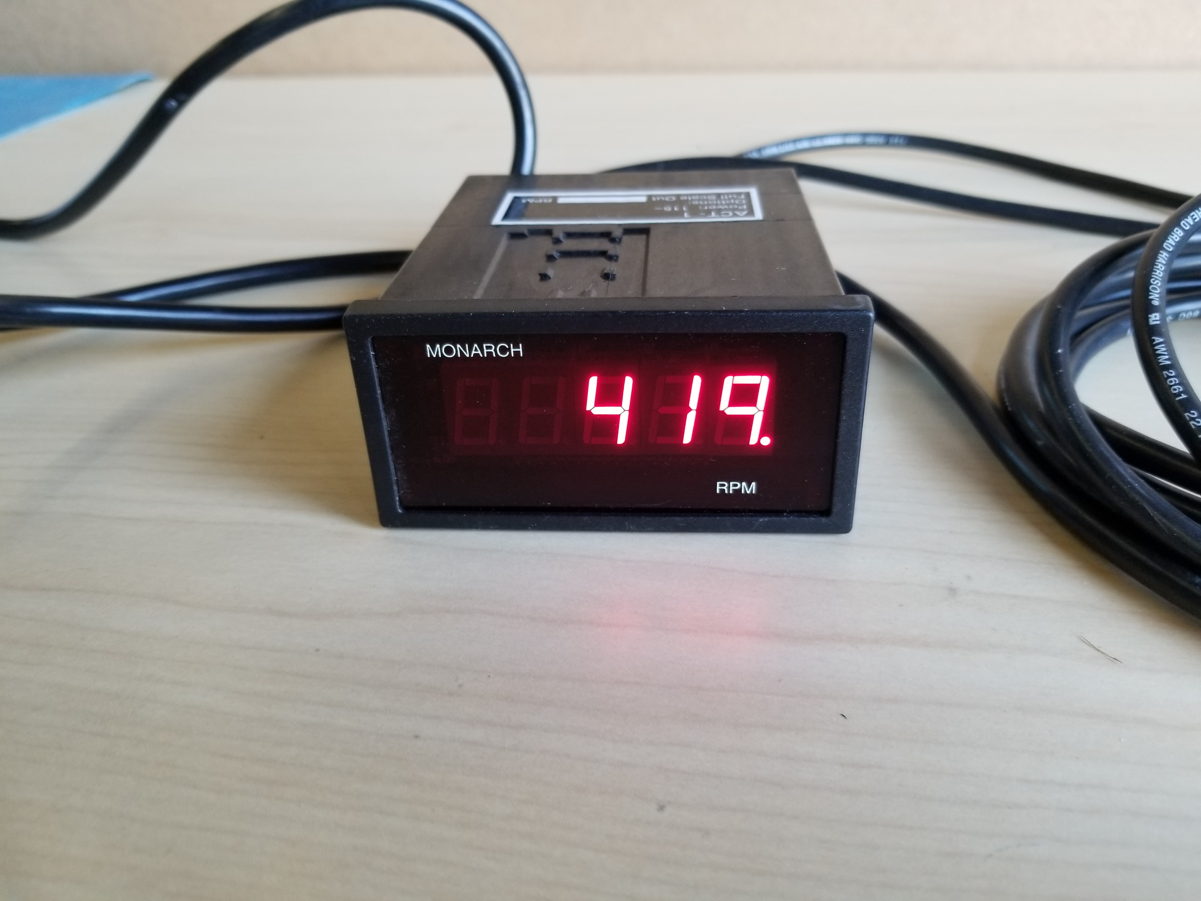 Monarch Digital Tachometer Panel Meter & Remote Optical LED Sensor - Image 15 of 16