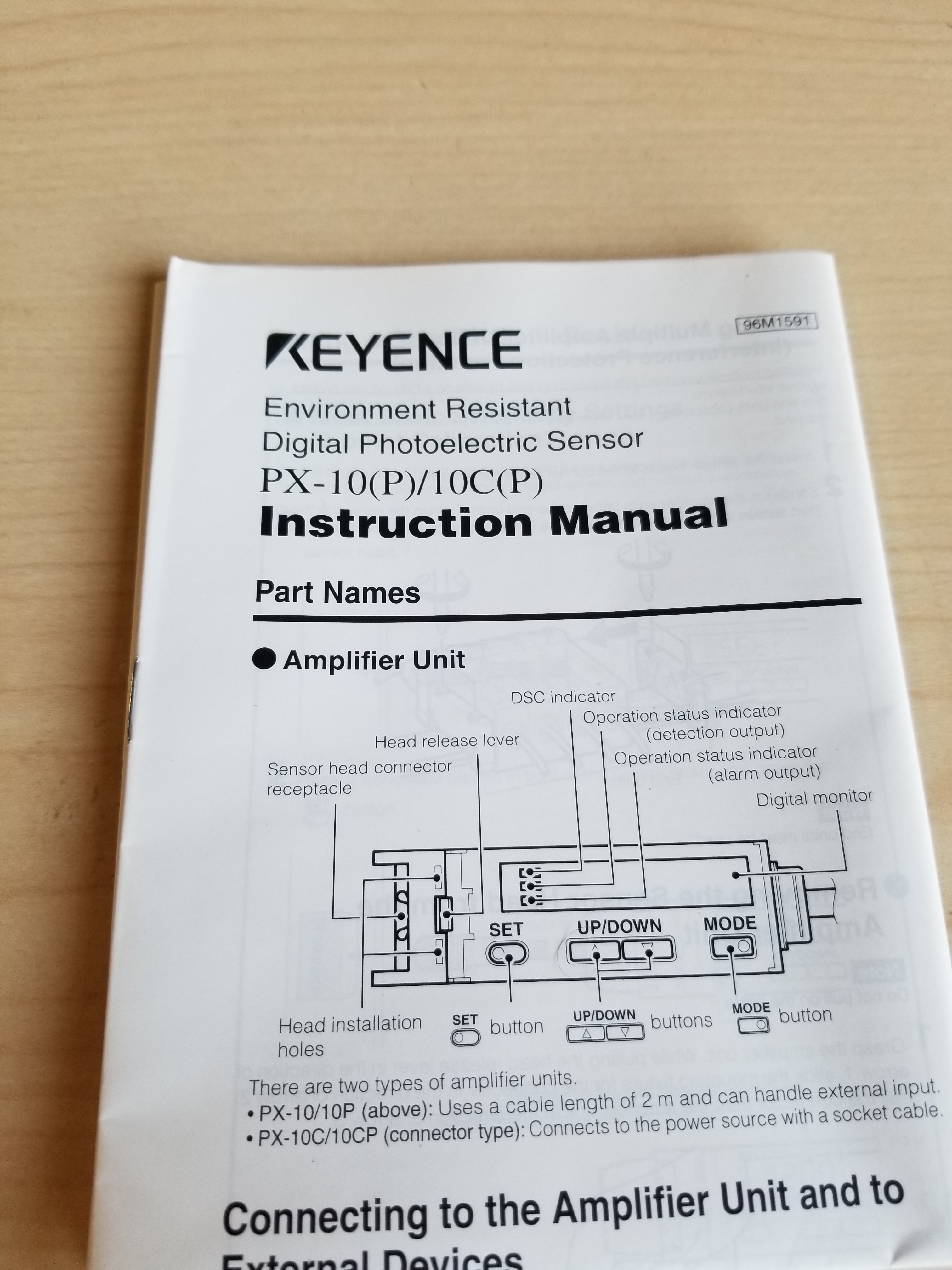 New Keyence Environment Resistant Digital Photoelectric Sensor PX-10 - Image 5 of 5